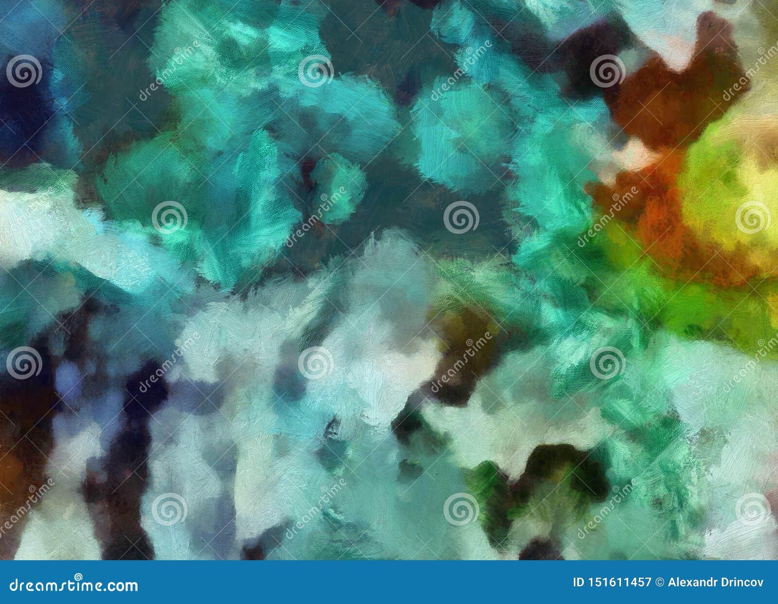 Feche acima do fundo do sum?rio da pintura de ?leo Pinceladas textured arte no macro Parte da pintura Arte finala do estilo antig