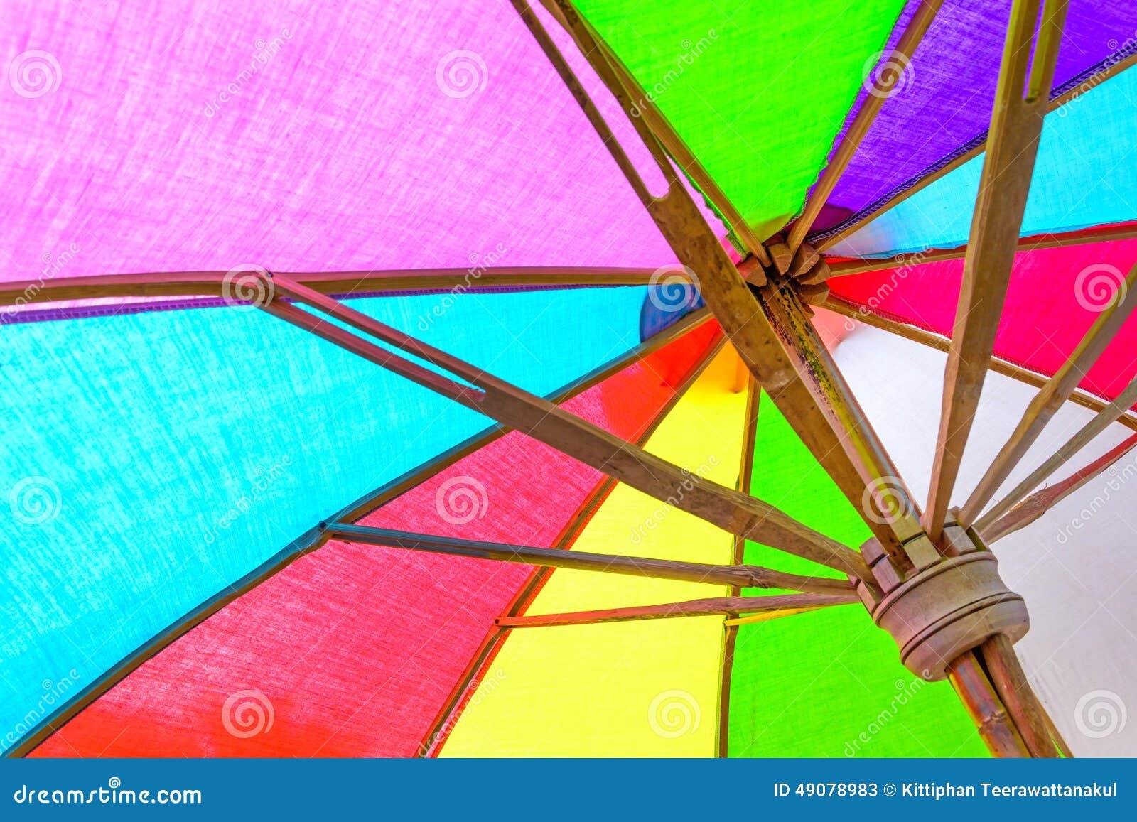 Feche acima do guarda-chuva interno