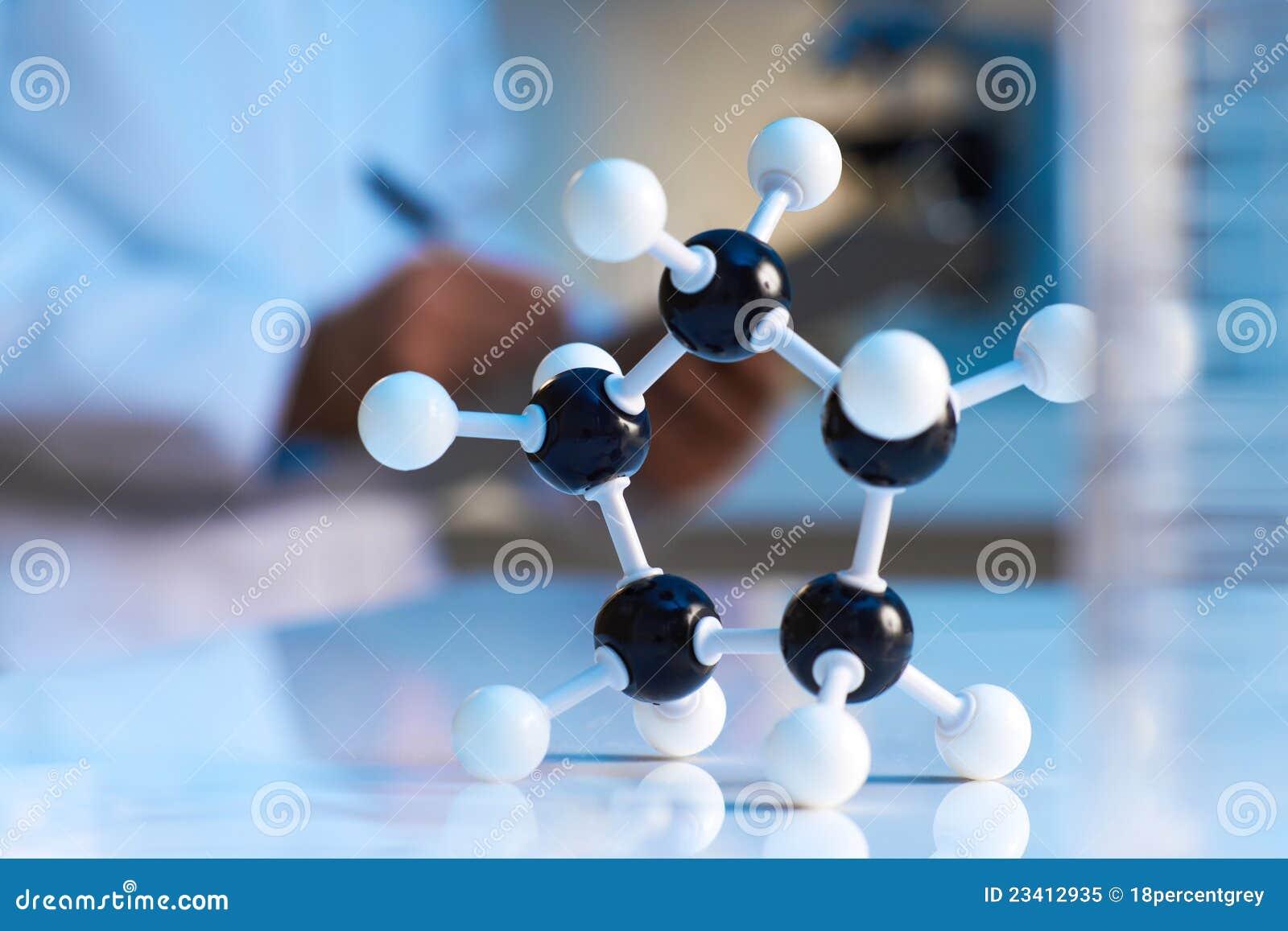 Feche acima do modelo molecular