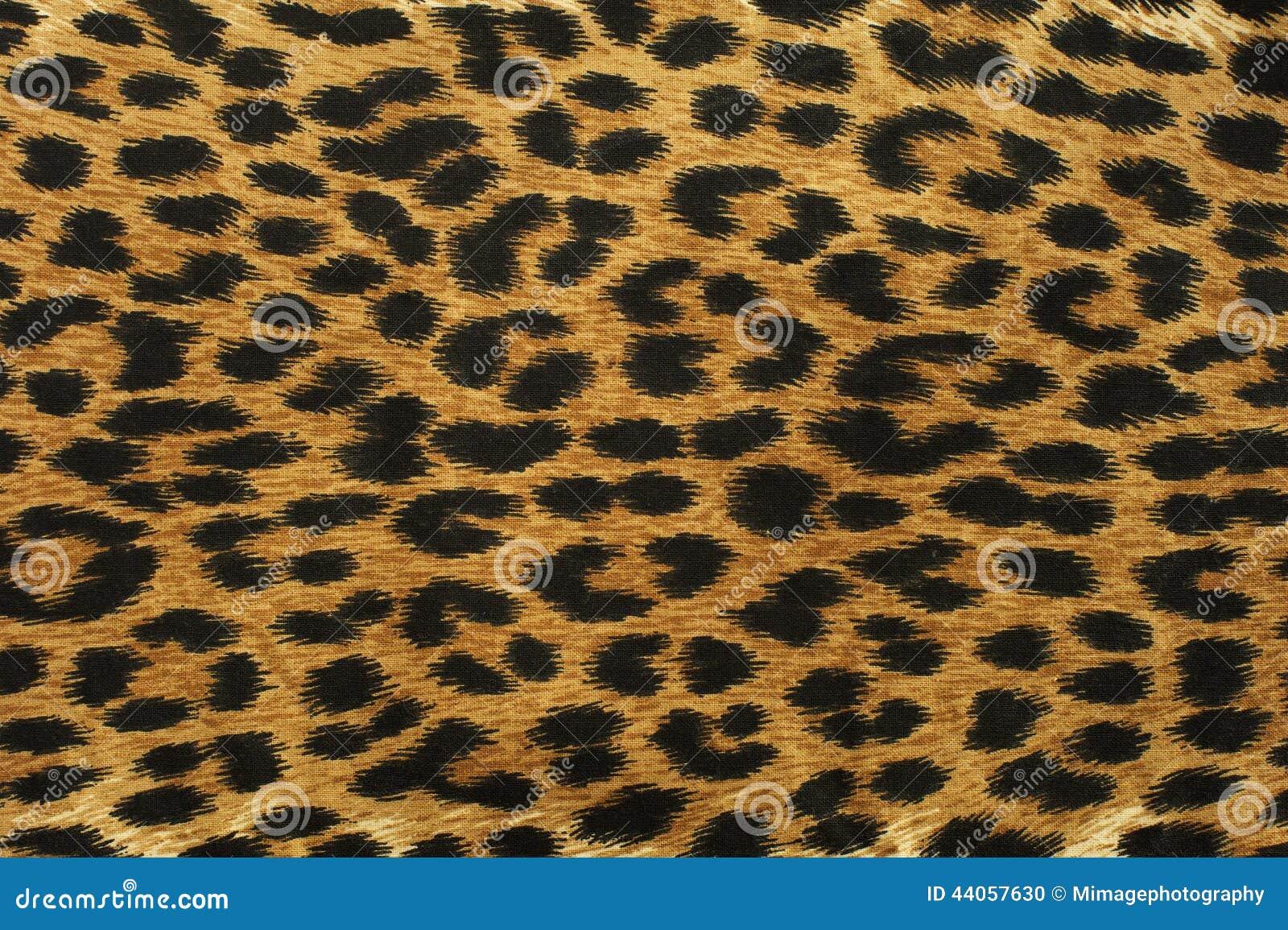Feche acima do teste padrão do ponto do leopardo