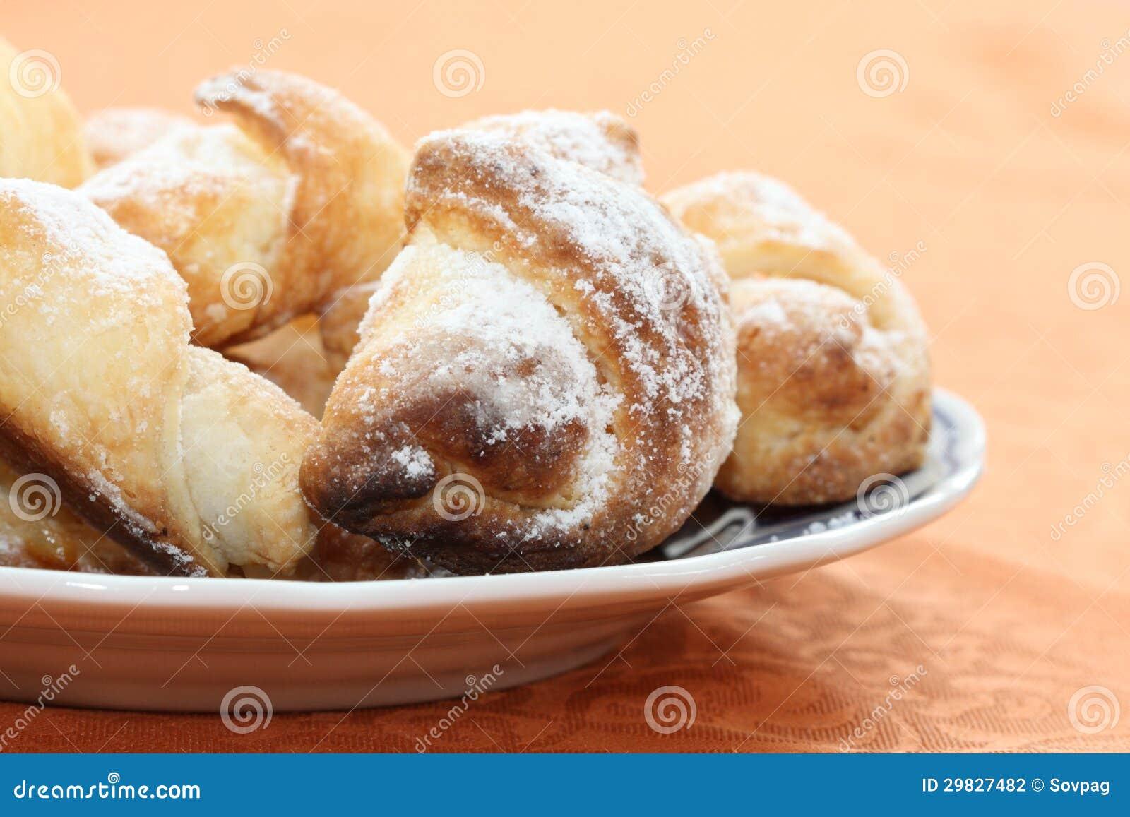 Rolos de pão doces