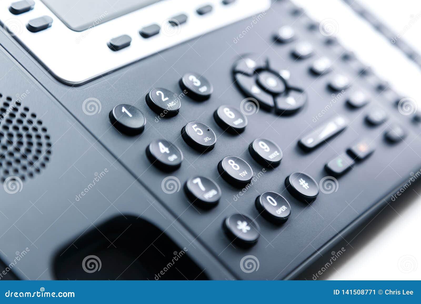 Feche acima - o teclado numérico do telefone