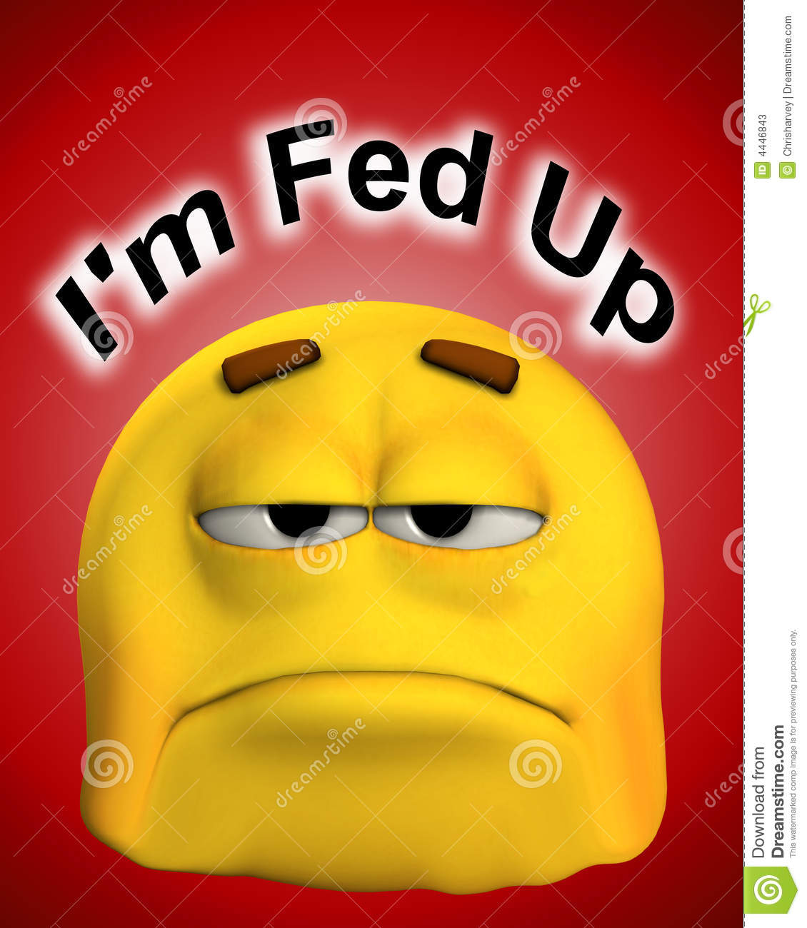 Fed Up Stock Photos Image 4446843