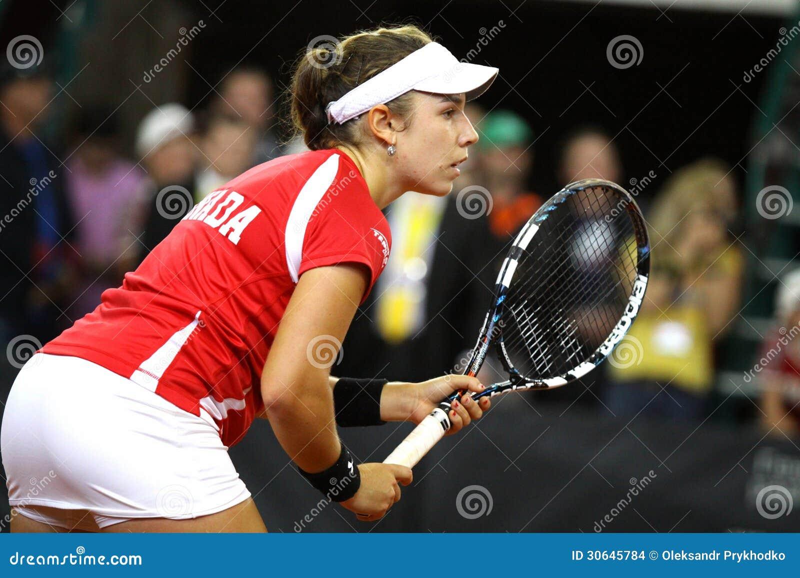 fedcup tennis game ukraine vs canada editorial stock image image 30645784. Black Bedroom Furniture Sets. Home Design Ideas