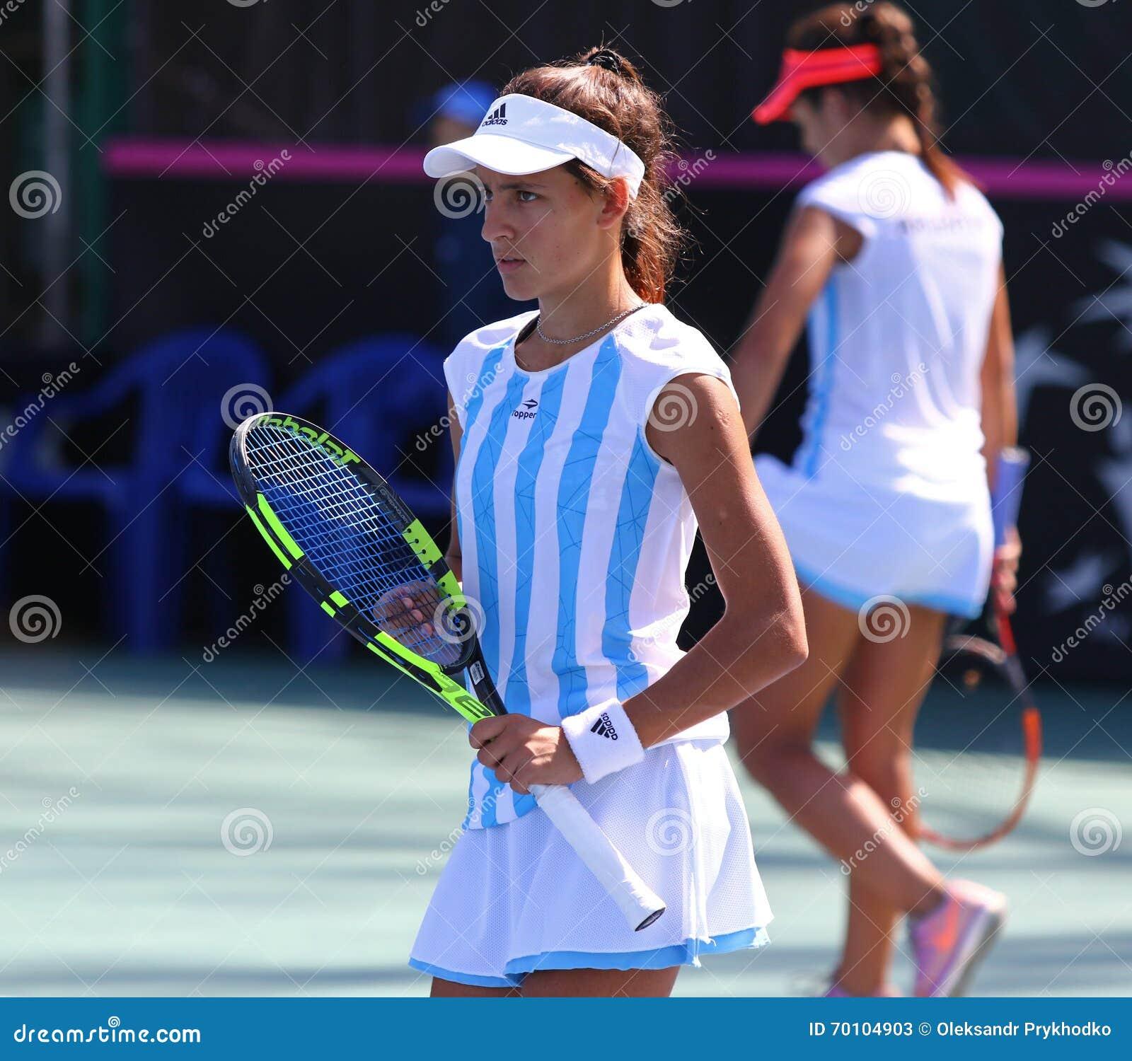 fedcup tennis match ukraine vs argentina editorial stock photo image of arena player 70104903. Black Bedroom Furniture Sets. Home Design Ideas