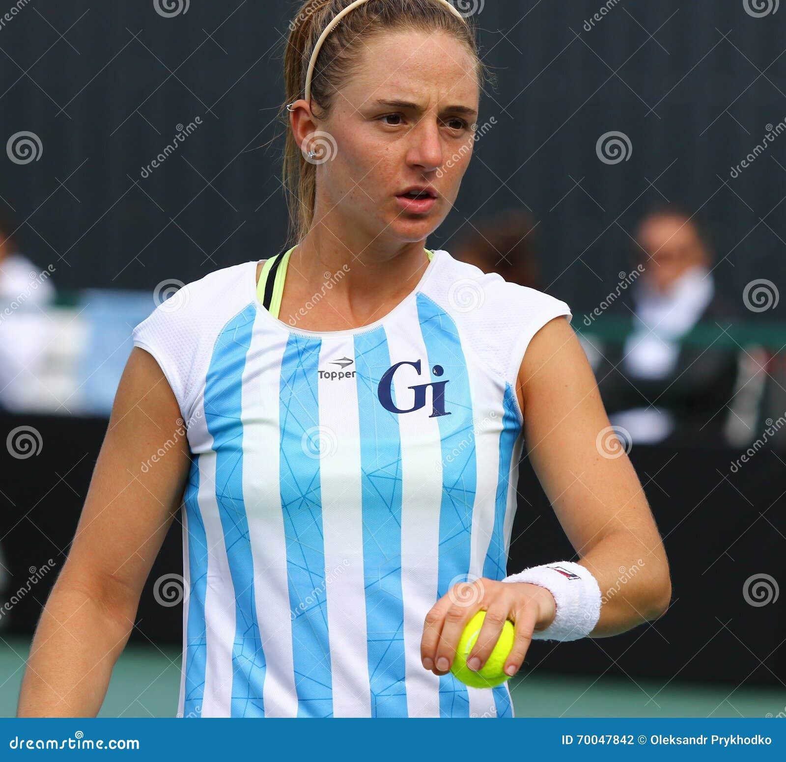 FedCup Tennis Match Ukraine Vs Argentina Editorial