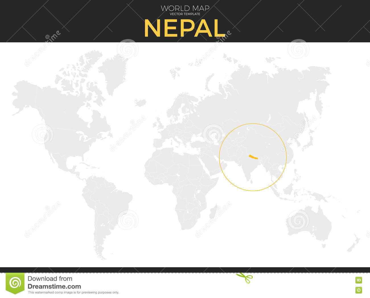 Federal Democratic Republic Of Nepal Location Map Stock Vector Illustration Of Isolated Infographics 73370836