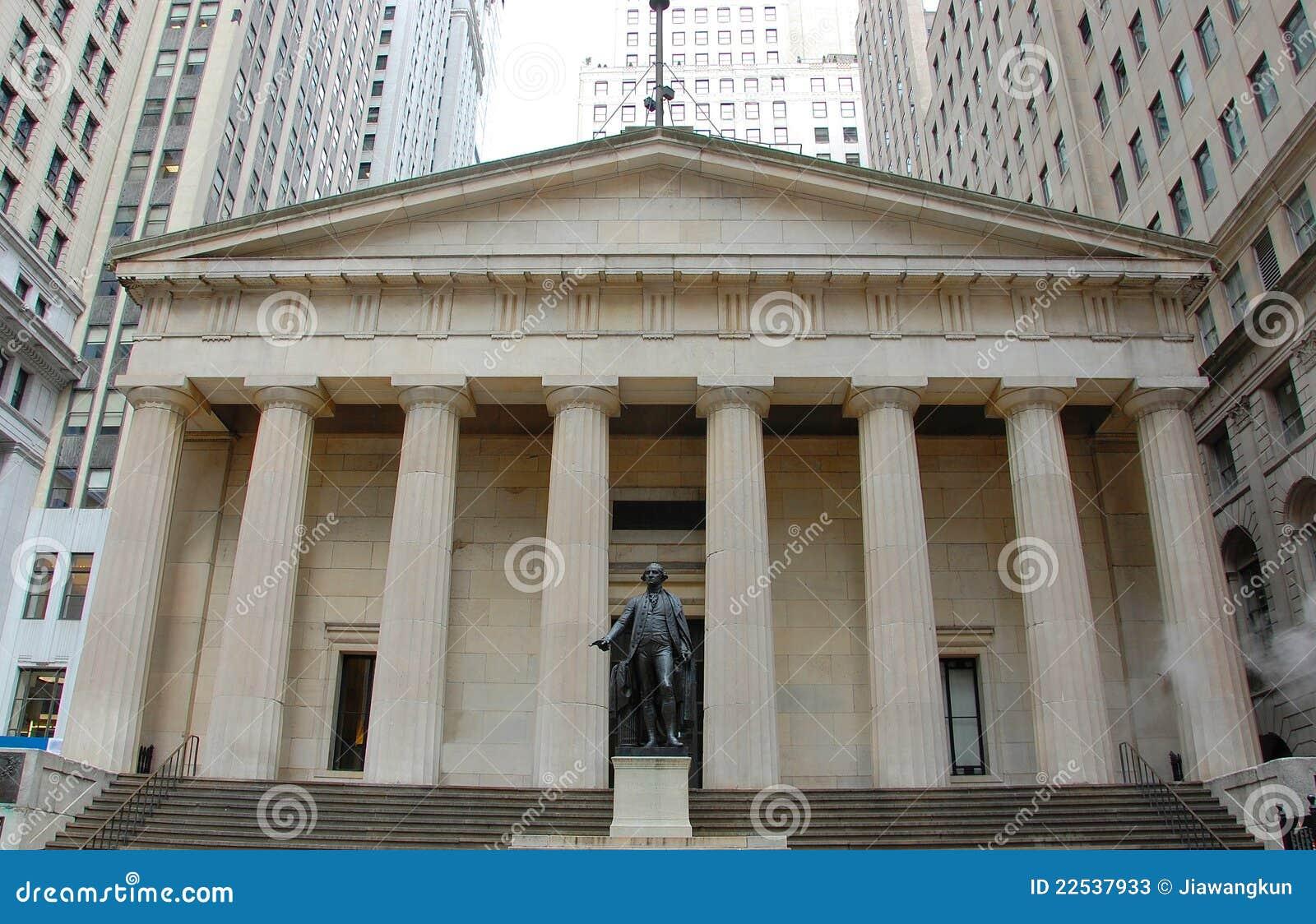 Federal Hall National Memorial, NYC Stock Image - Image ...