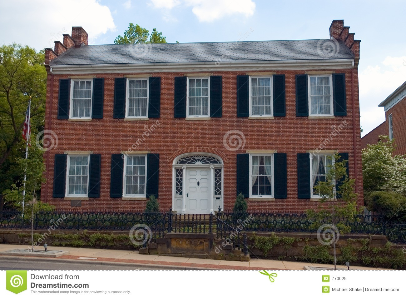 Federal Style Home Stock Image Image Of Remodel House 770029