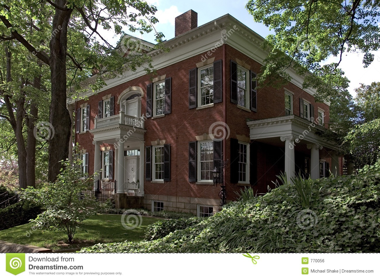 Federal style house stock photo image of building for Federal style homes
