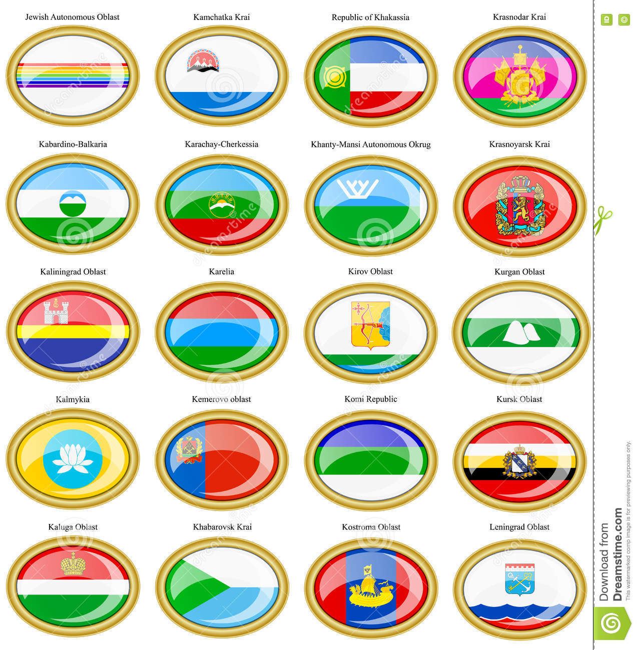 Subjects of russian federation with
