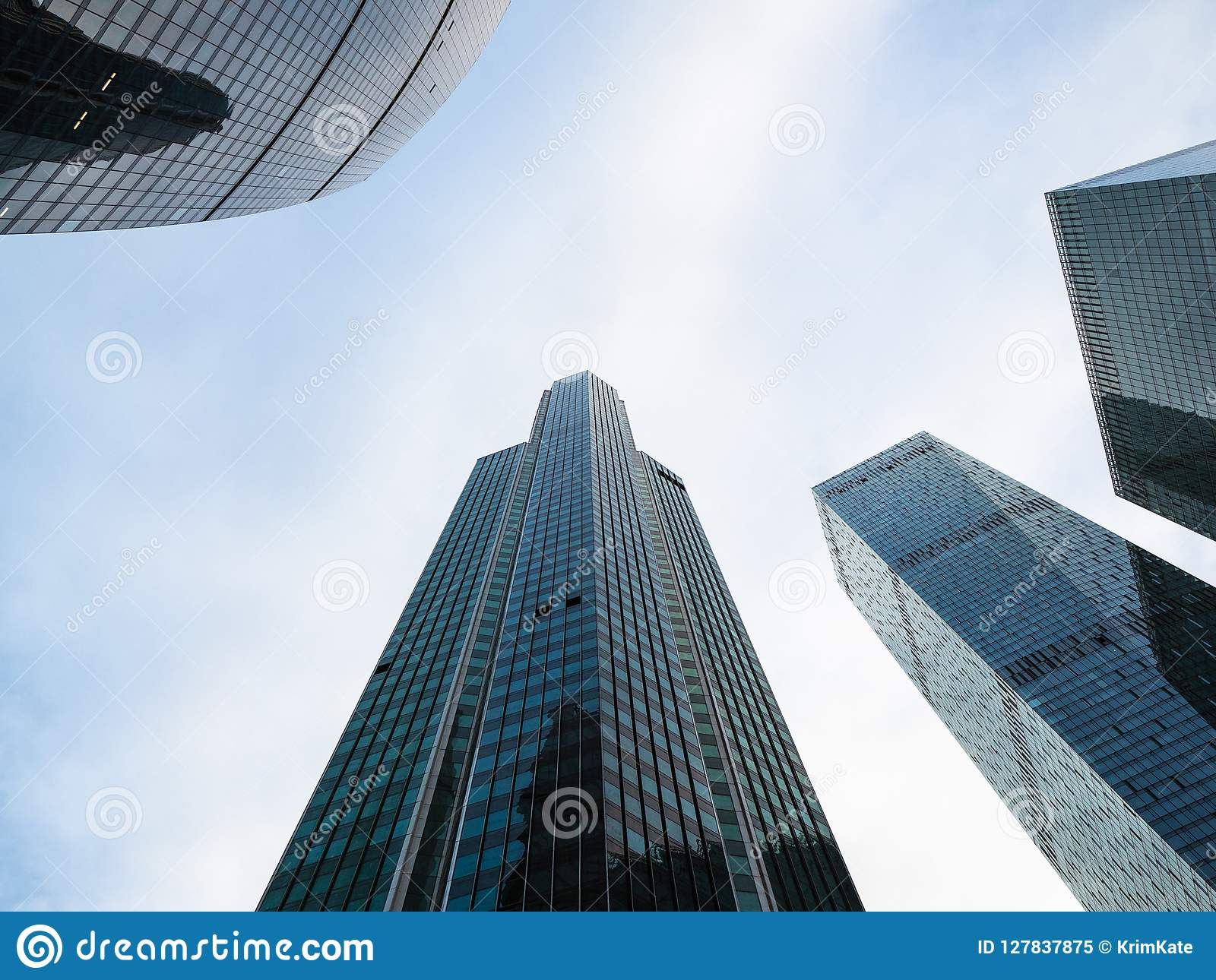 Federation, Eurasia and OKO Towers in Moscow