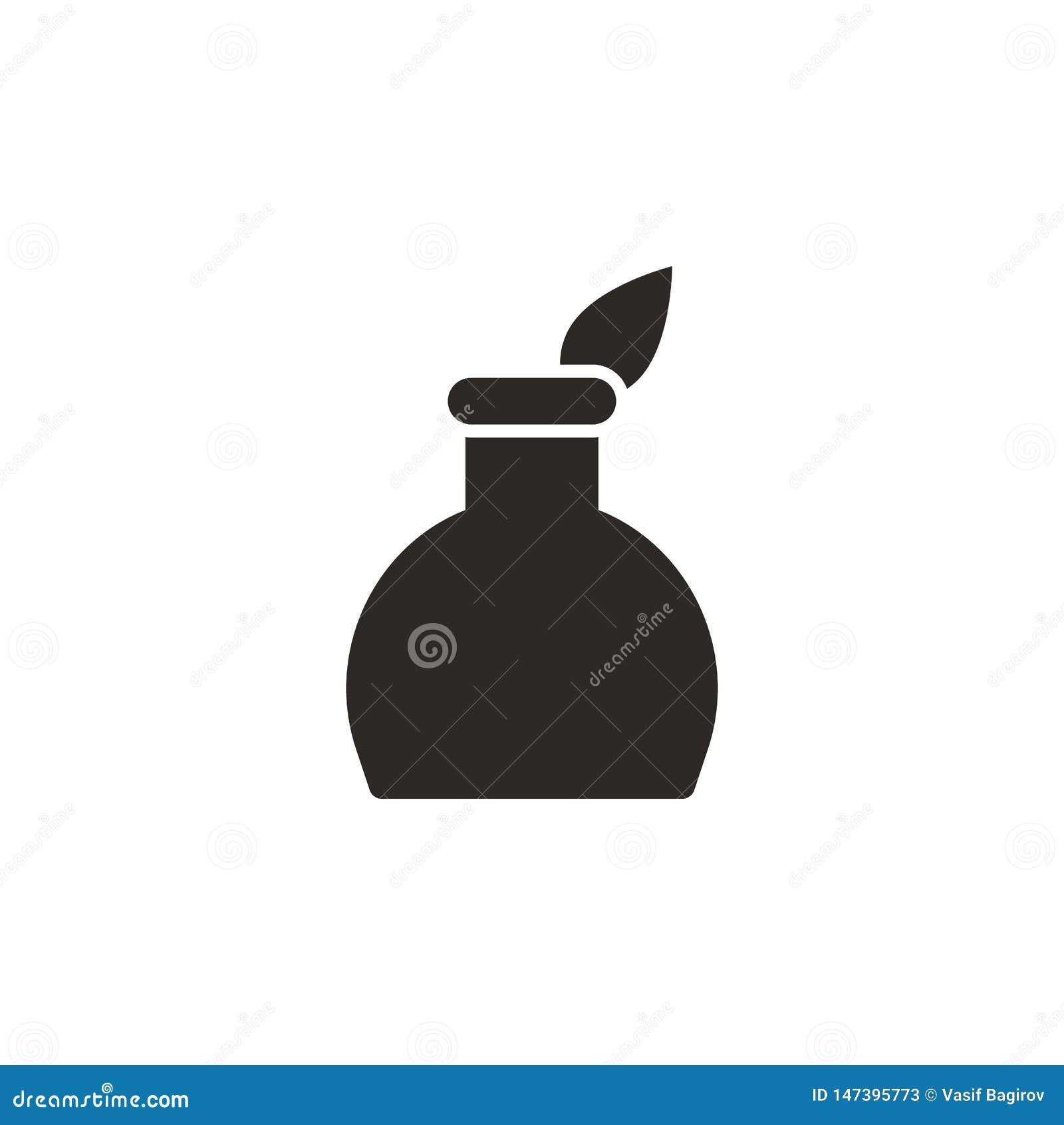 Federstift, Tintentopfikone - Vektor Einfache Elementillustration von UI-Konzept Federstift, Tintentopfikone - Vektor Infographic