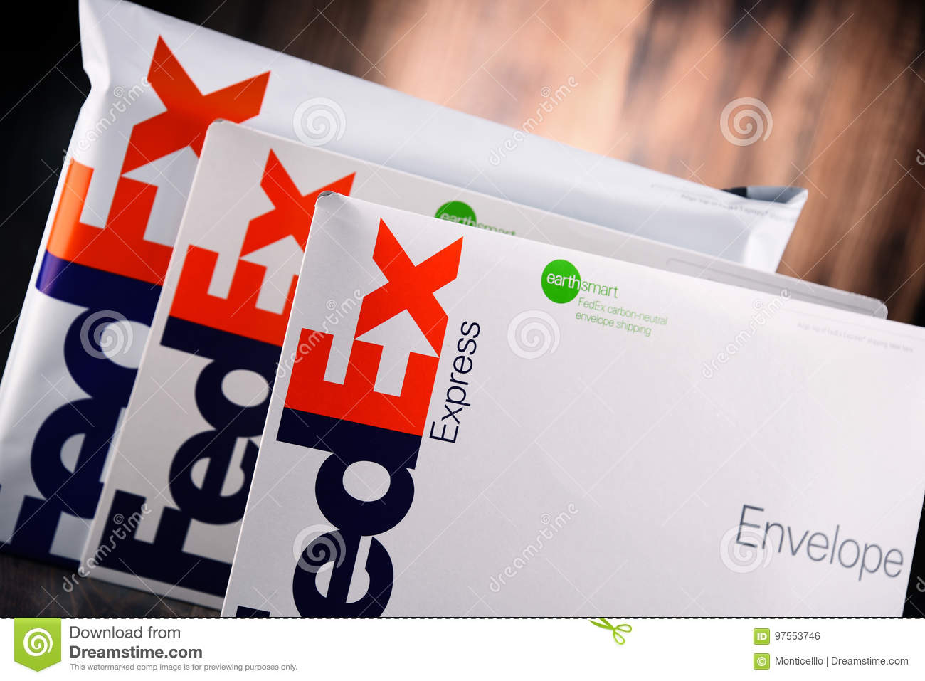 FedEx Envelopes And Parcels Editorial Photo - Image of