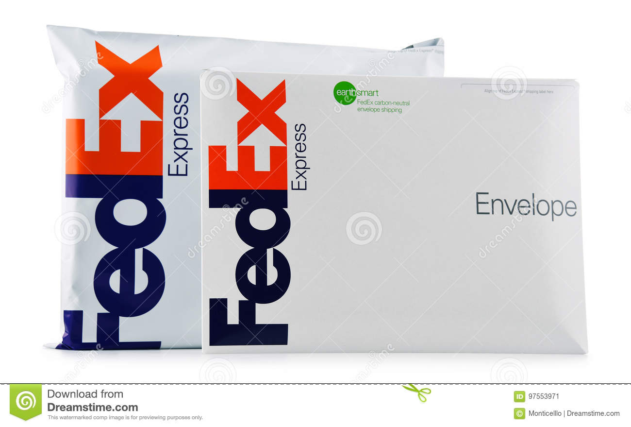 FedEx Envelopes And Parcels Editorial Photo - Image of illustrative ...