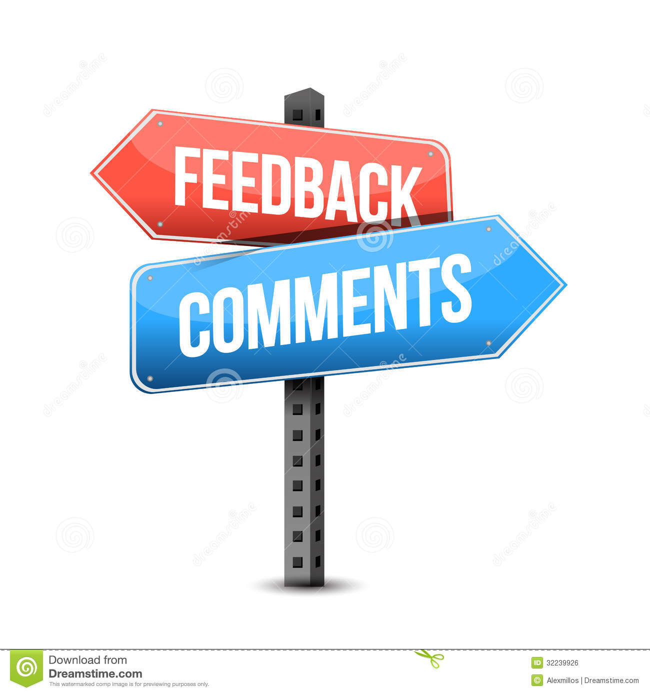 Comments: Feedback Or Comments Road Sign Illustration Stock