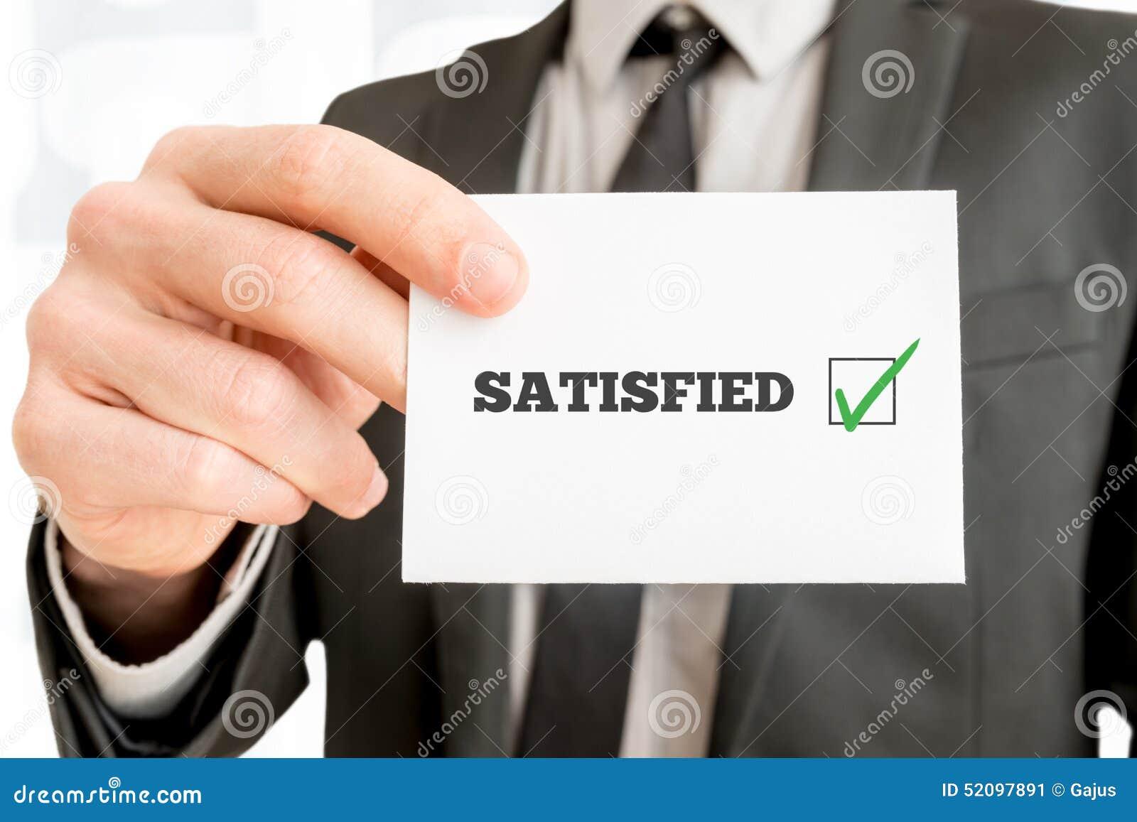 Feedback de cliente - satisfeito