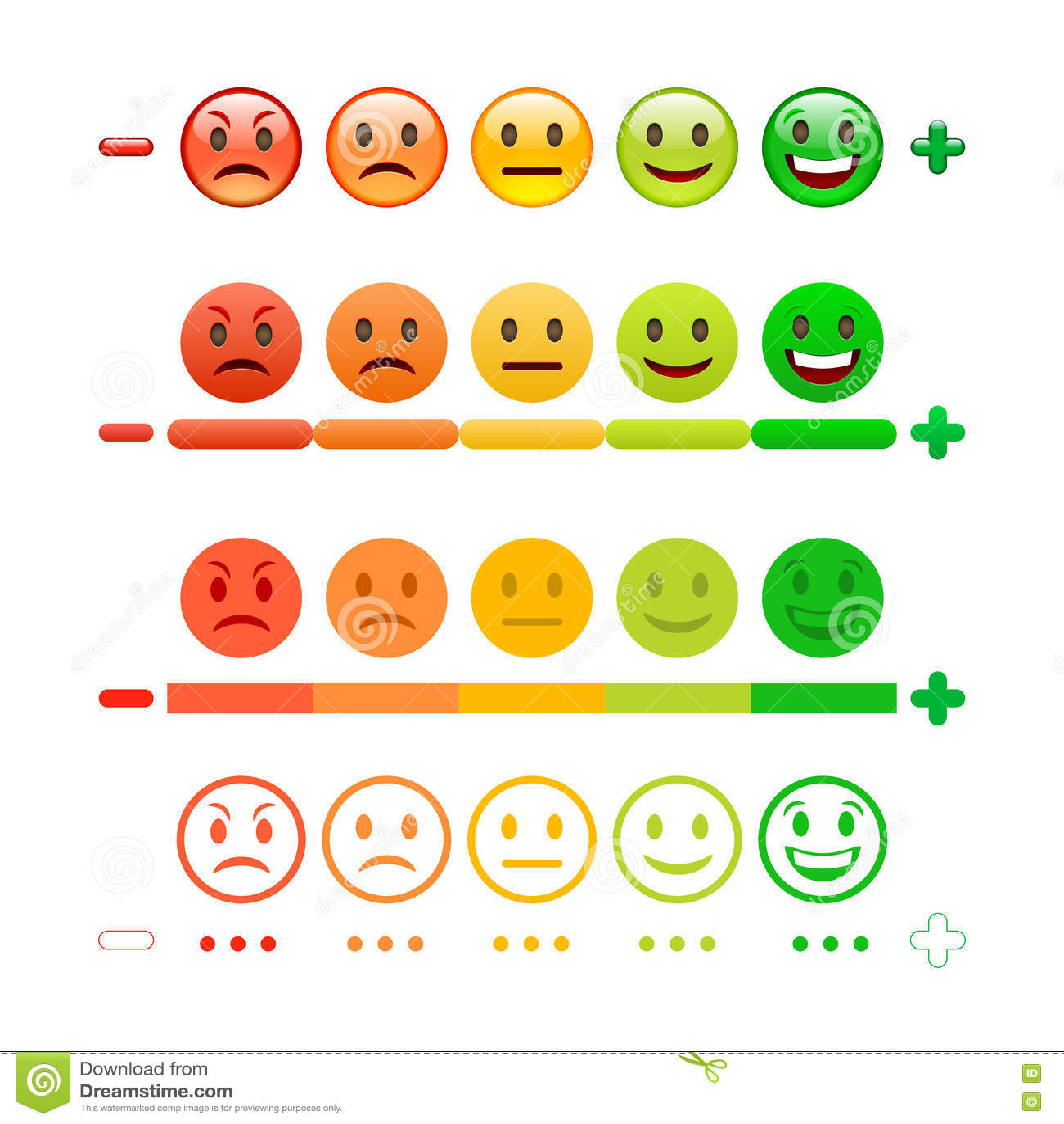 Feedback Emoticonstange Feedback Emoji