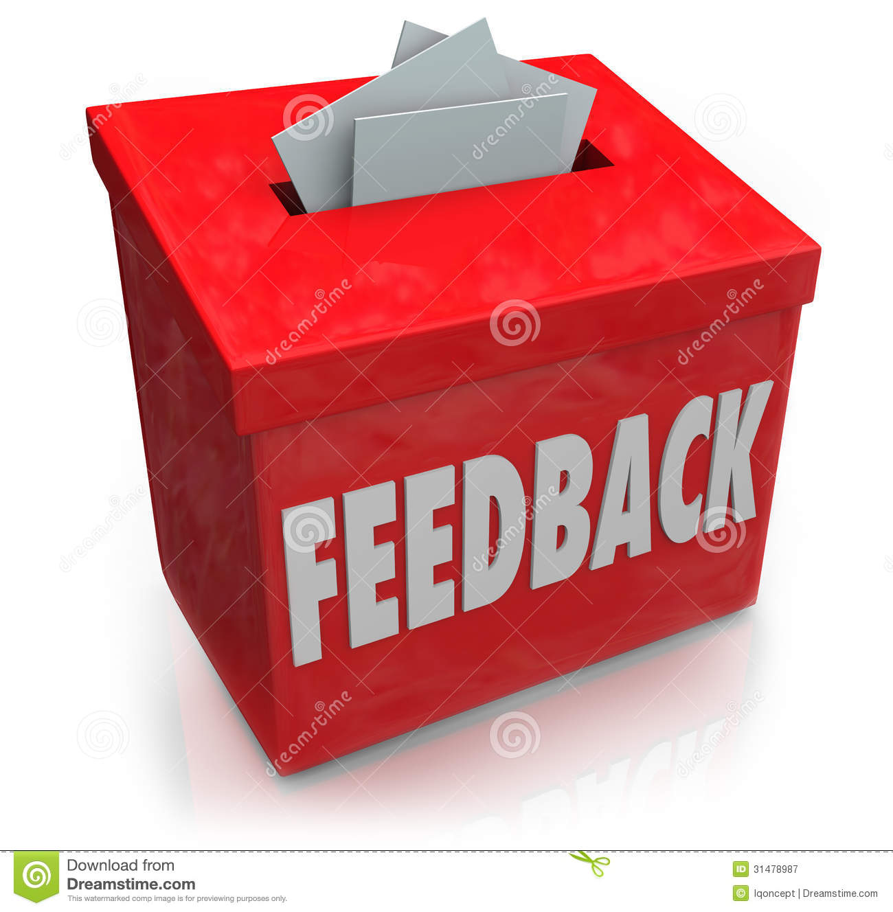 Feedback Suggestion Box Collecting Thoughts Ideas Stock