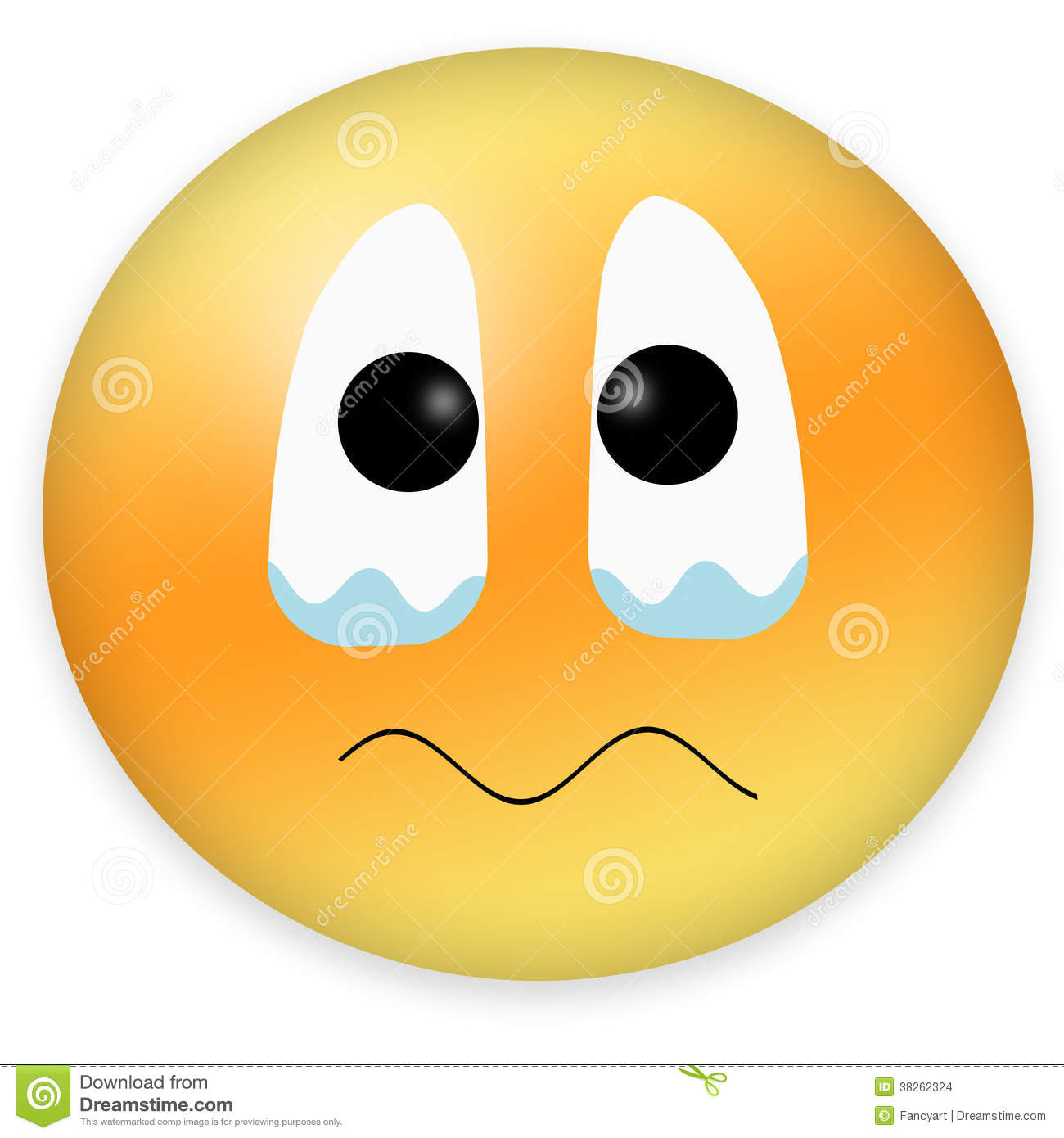 Feeling sad smiley emoticon for web
