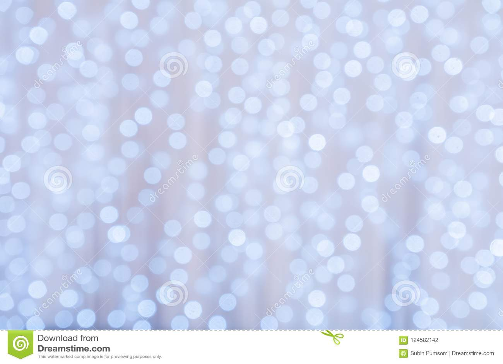 Feestelijke Lichten van Defocused de Unieke Abstracte Blauwe Bokeh