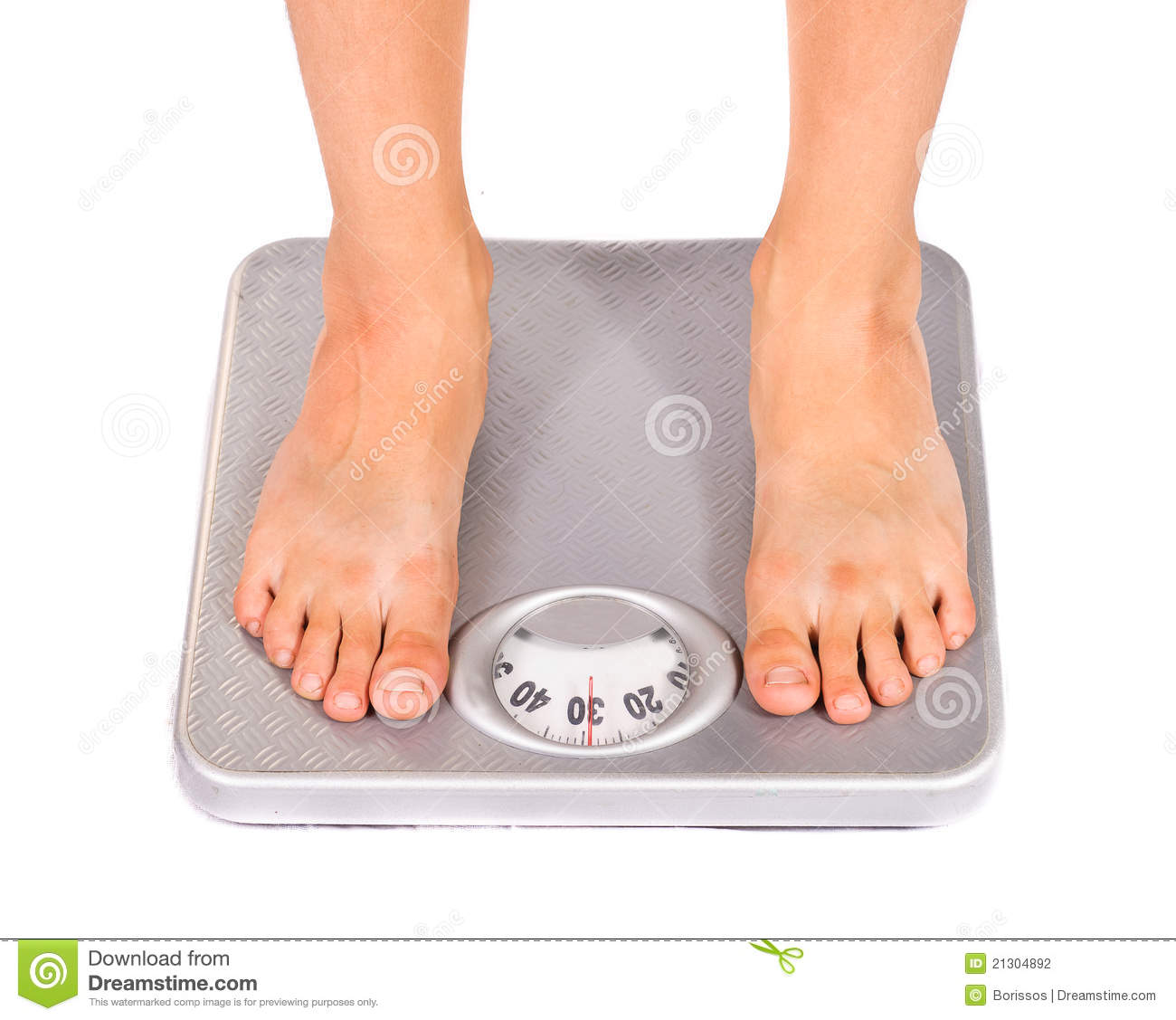 Feet on floor scales stock photo. Image of brown, health ...