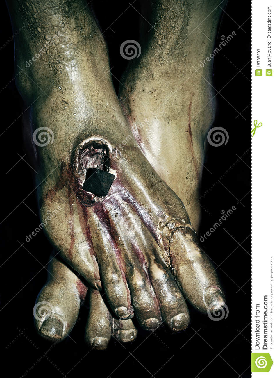 The Feet Of Jesus Christ In The Holy Cross Stock Image Image Of Nails Nail 18785393