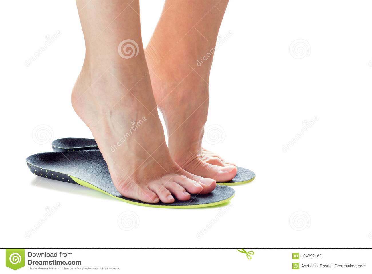 Feet and orthopedic insoles