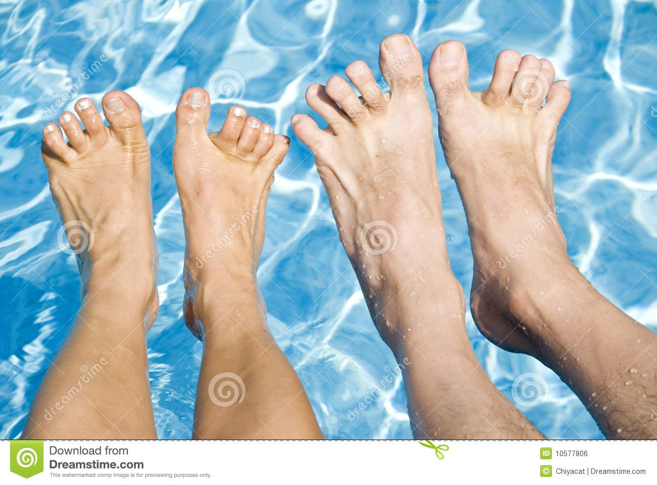 Feet Over The Swimming Pool Royalty Free Stock Image Image 10577806