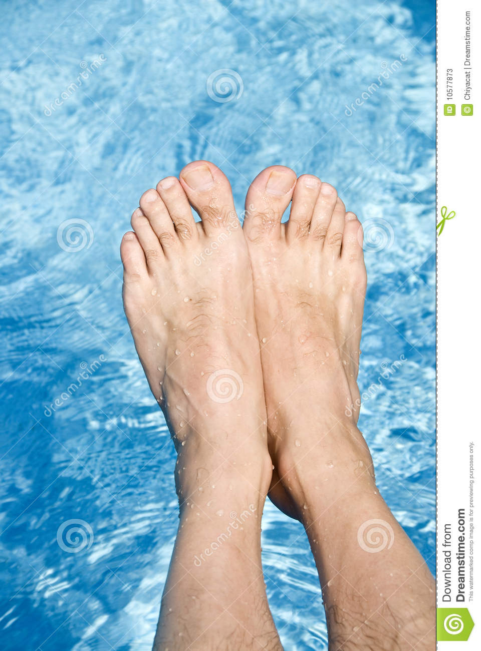 Feet Over The Swimming Pool Stock Photos Image 10577873