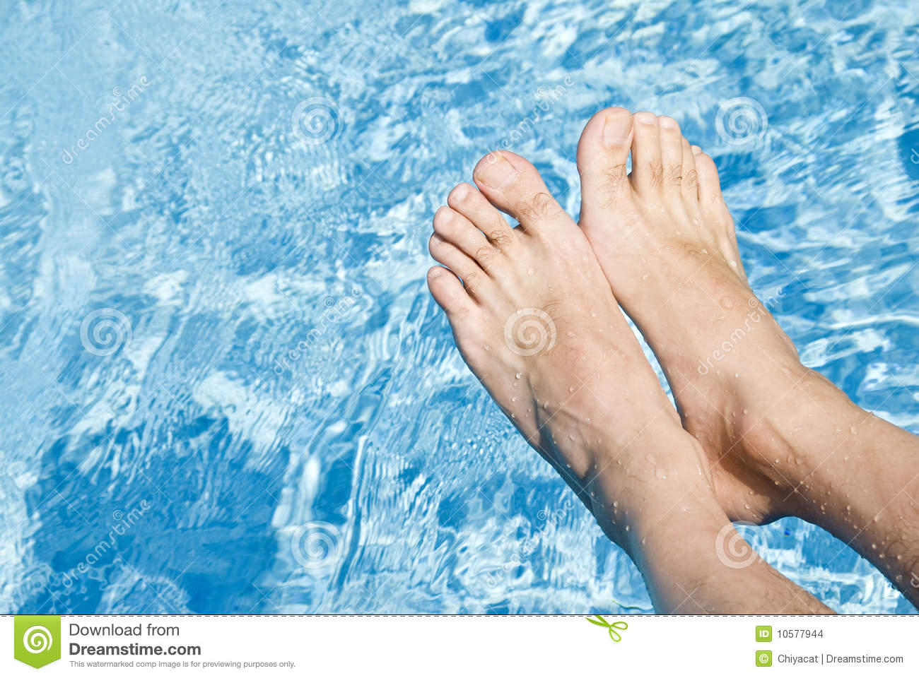 Feet Over The Swimming Pool Stock Images Image 10577944