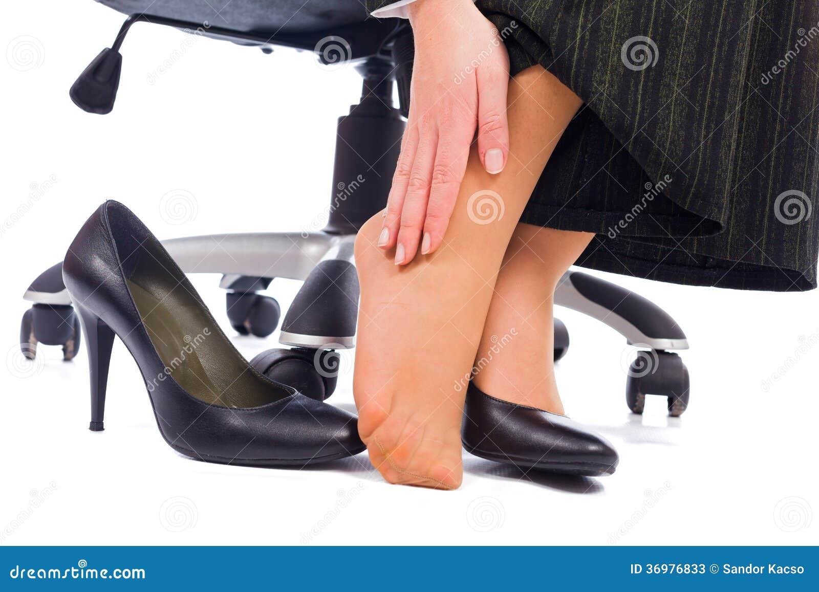 Feet Pain stock image. Image of heels, health, lady ...