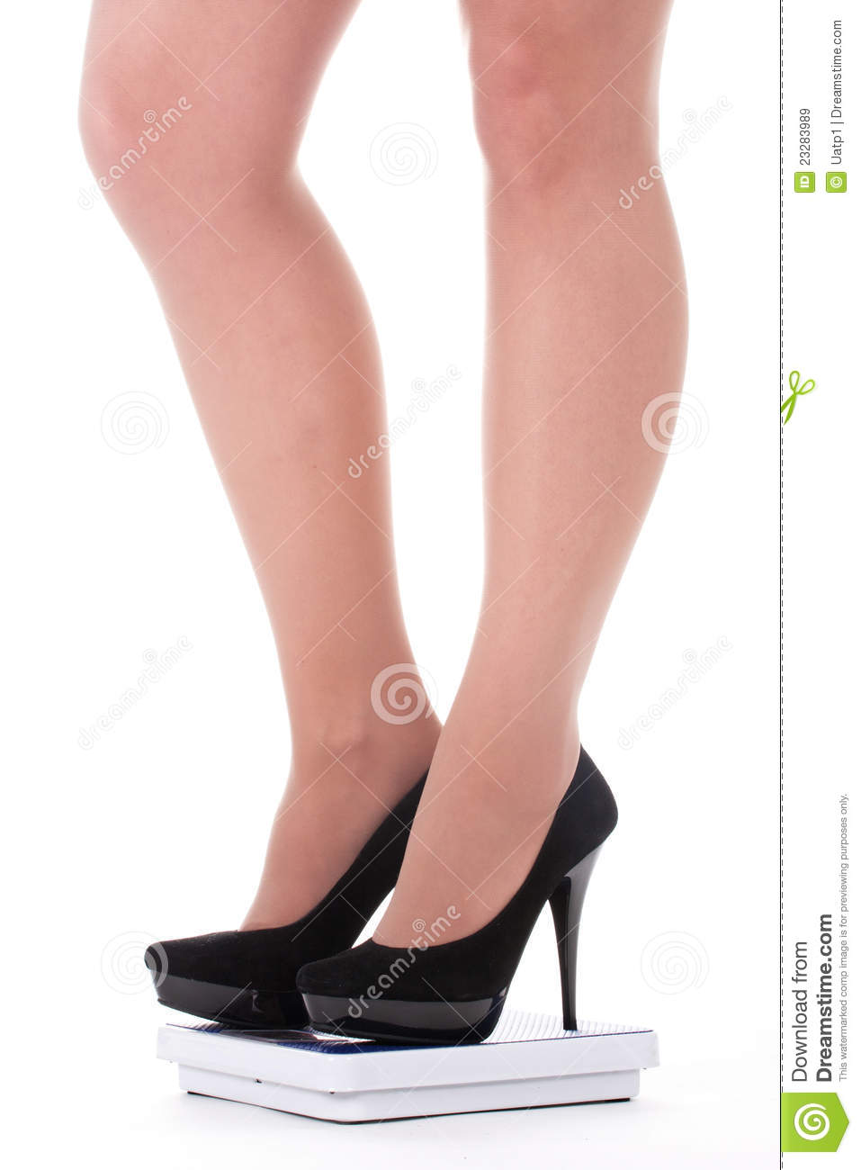 Feet In Shoes On Scale Stock Image Image Of Legs Meter
