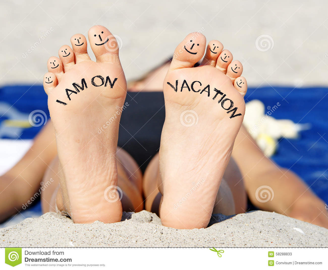 Feet On Vacation Stock Image Image Of Relax, Relaxing -1865