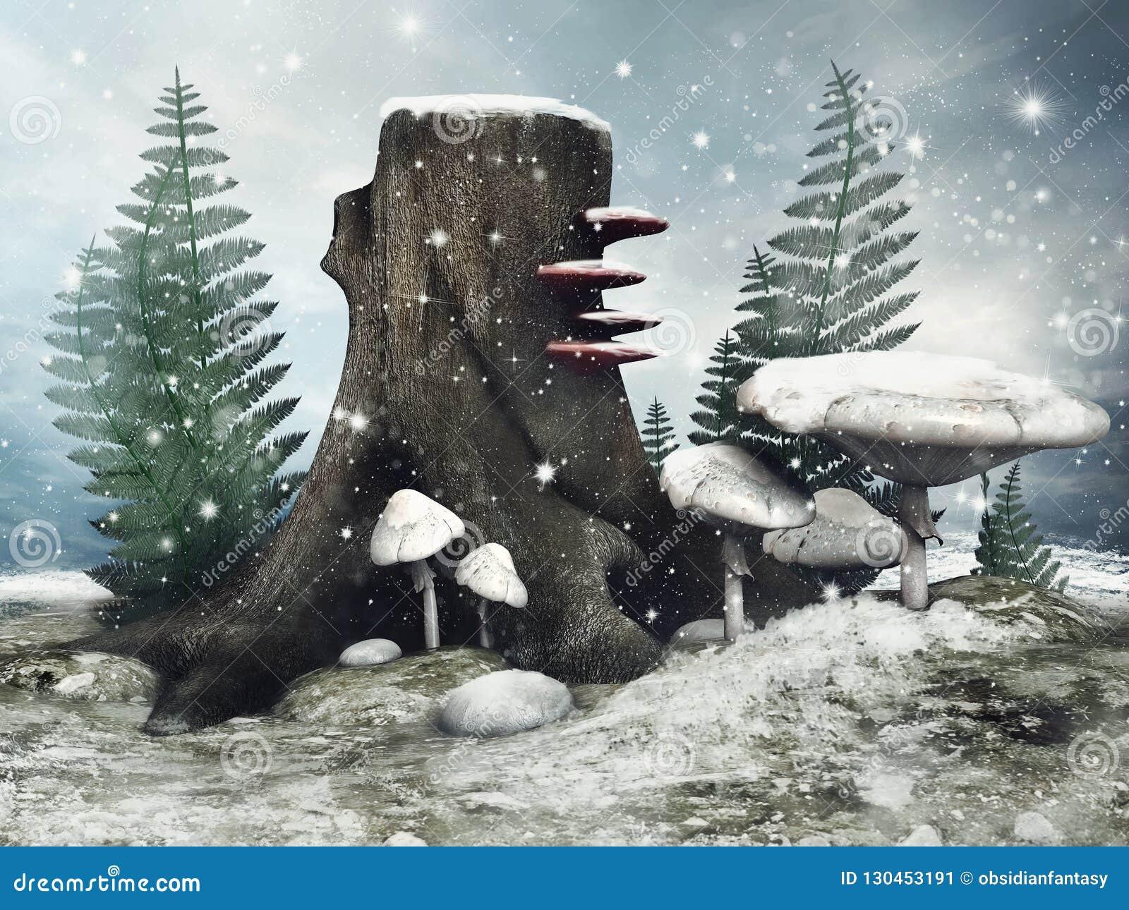 Feeweide in de winter