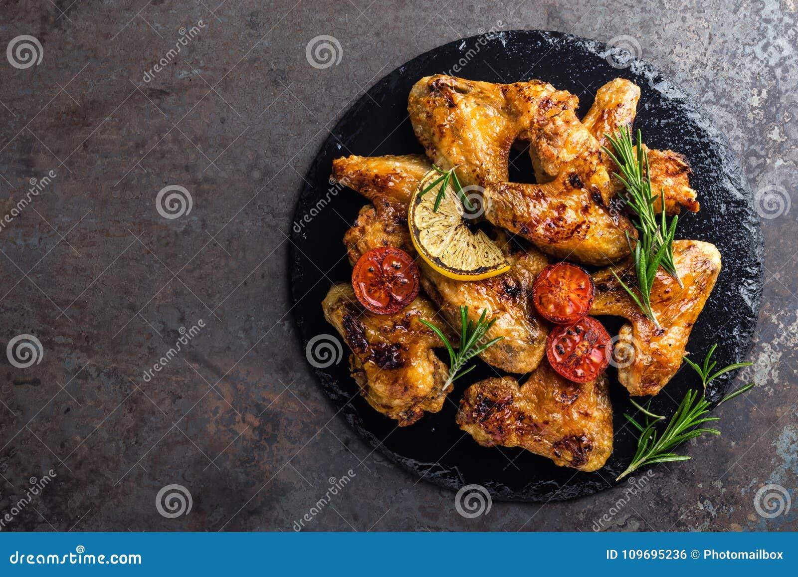 Fega vingar för BBQ, kryddigt grillat kött