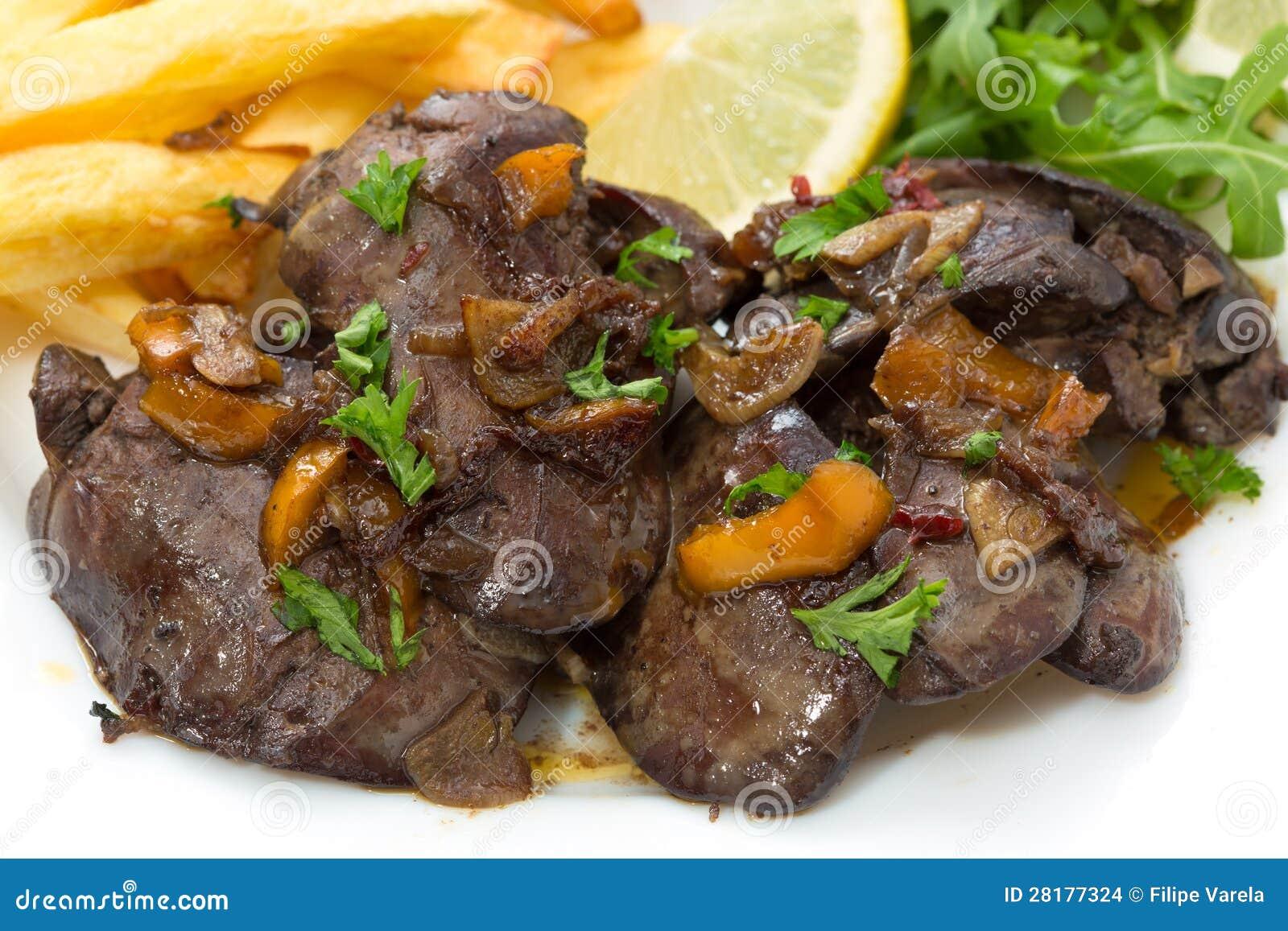 Fegato di pollo fritto