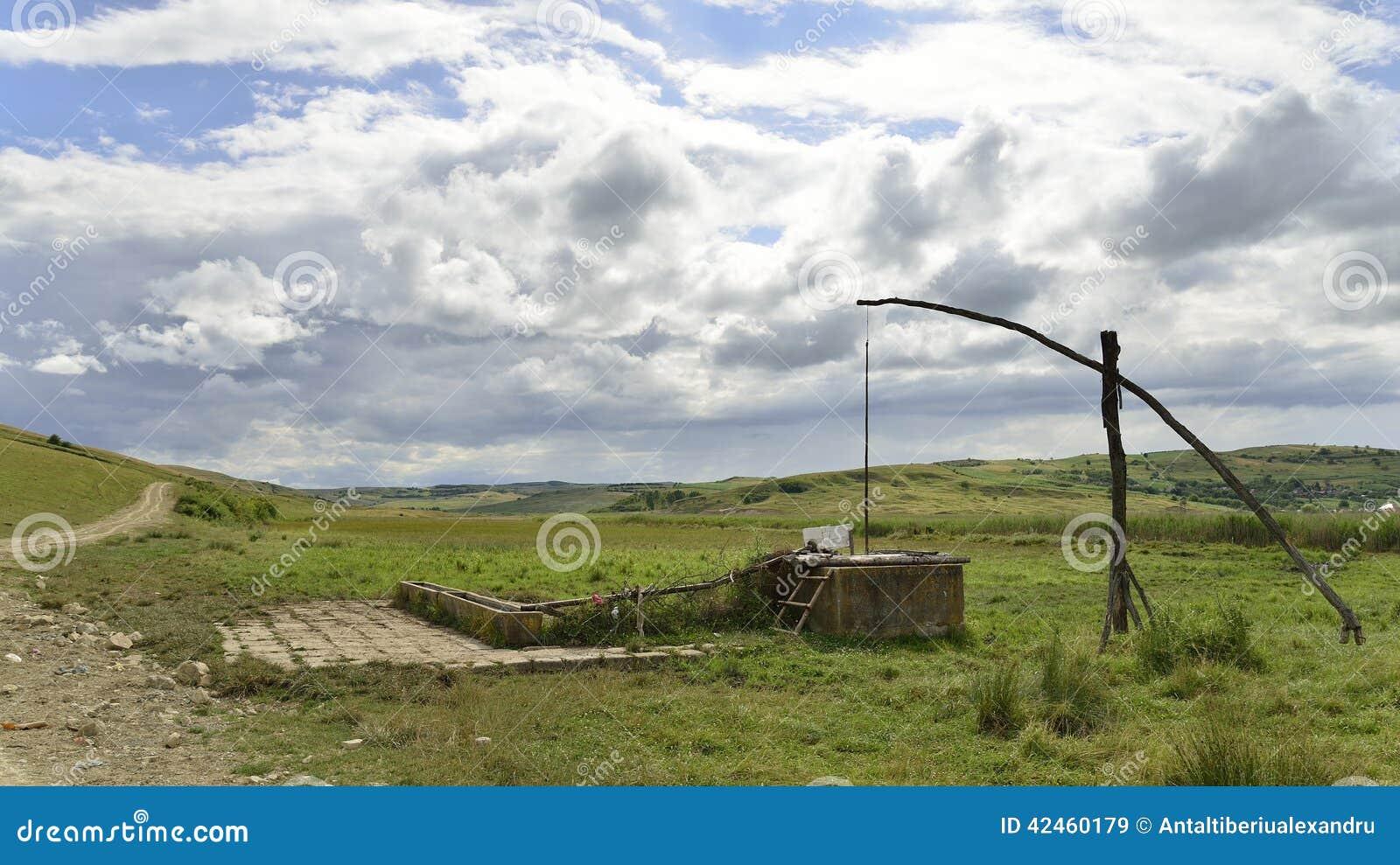 Fegen Sie Brunnen nahe der natürlichen Reedreserve von