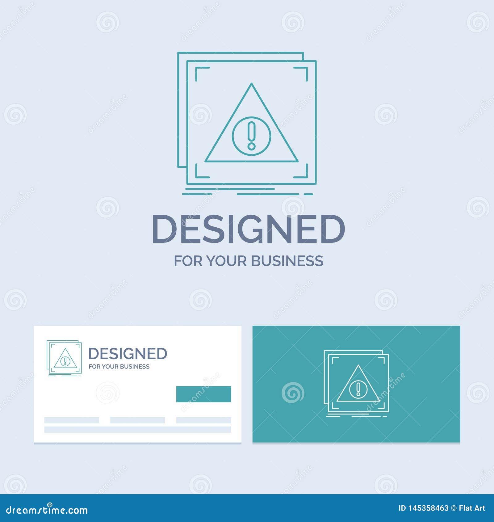Fehler, Anwendung, verweigert, Server, wachsames Geschäft Logo Line Icon Symbol für Ihr Geschäft T?rkis-Visitenkarten mit Marke