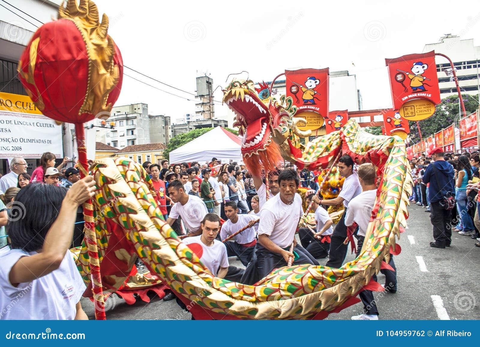 Feier des Chinesischen Neujahrsfests in Brasilien