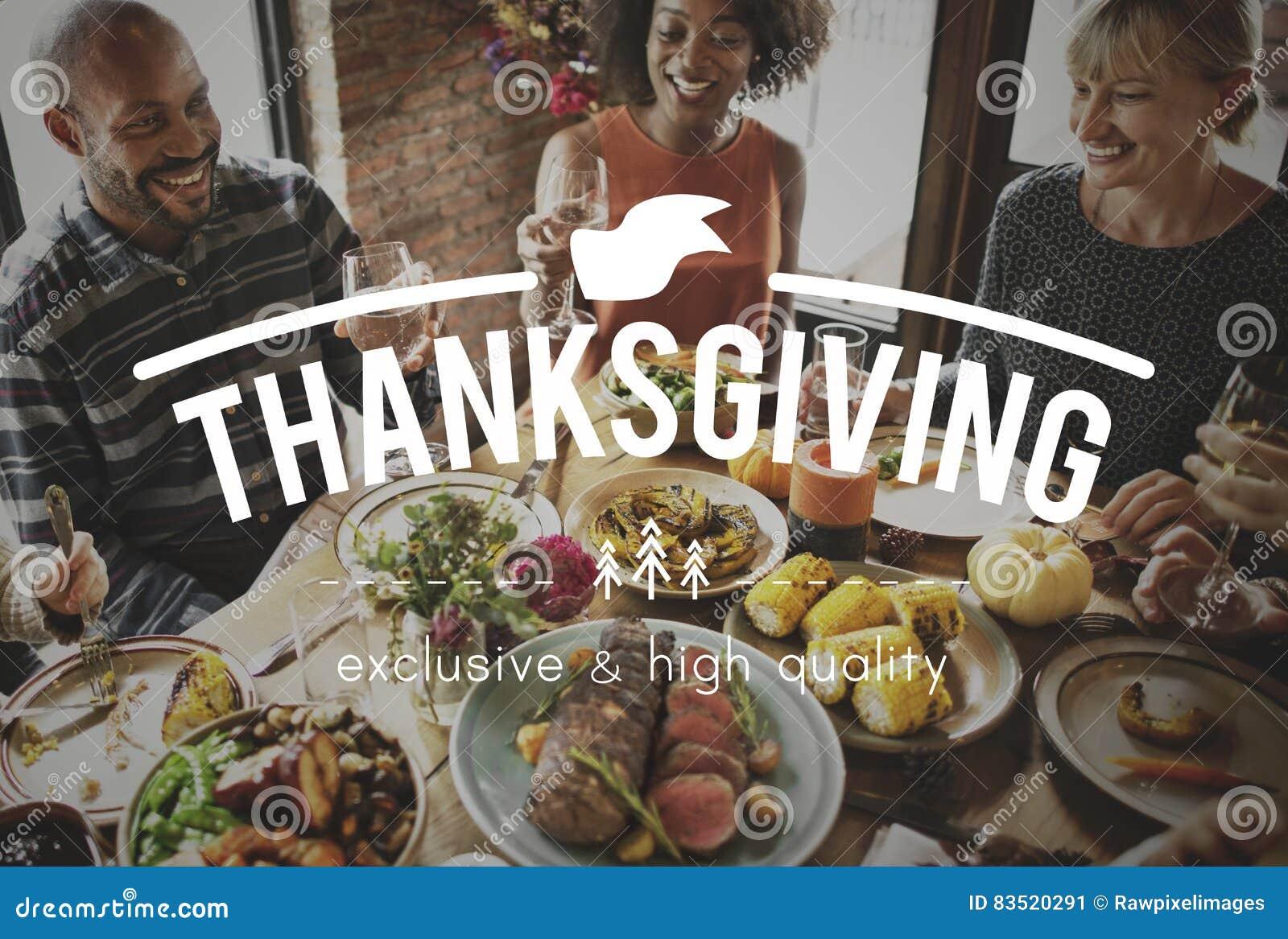 Feier-Familien-Danksagungs-Freundschafts-Spaß