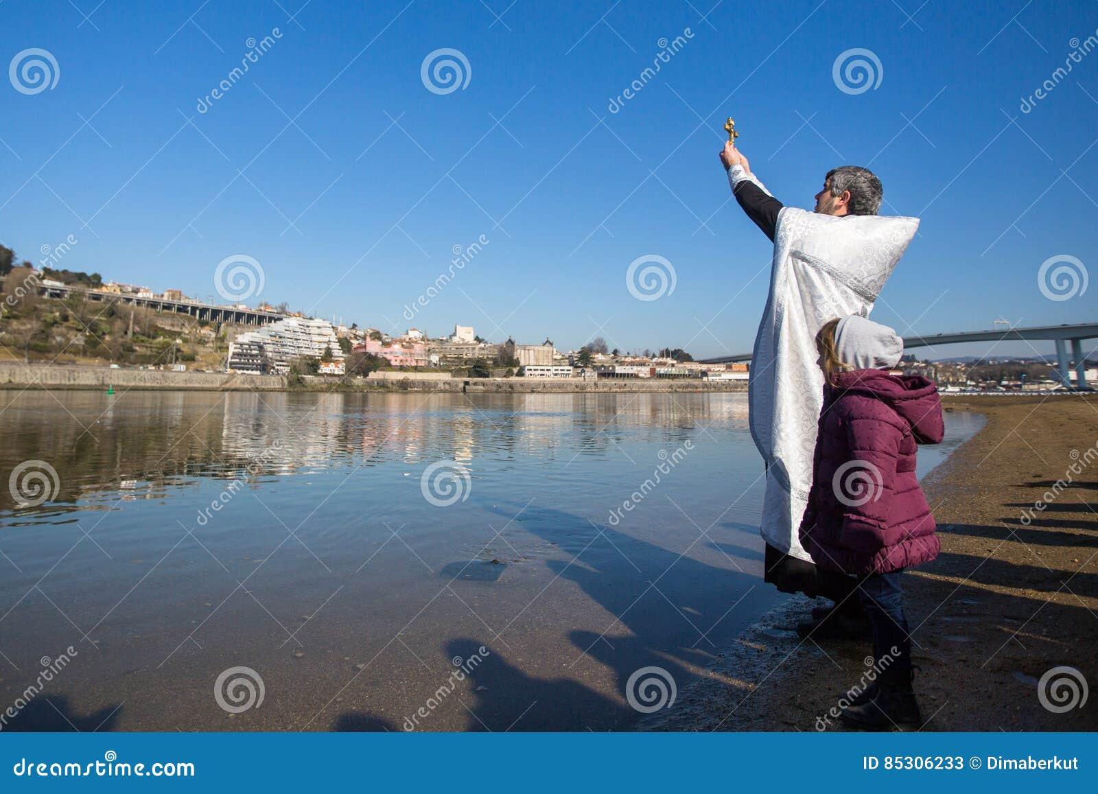 Feiern Von Taufe Von Jesus Und Von Offenbarung Die In Duero