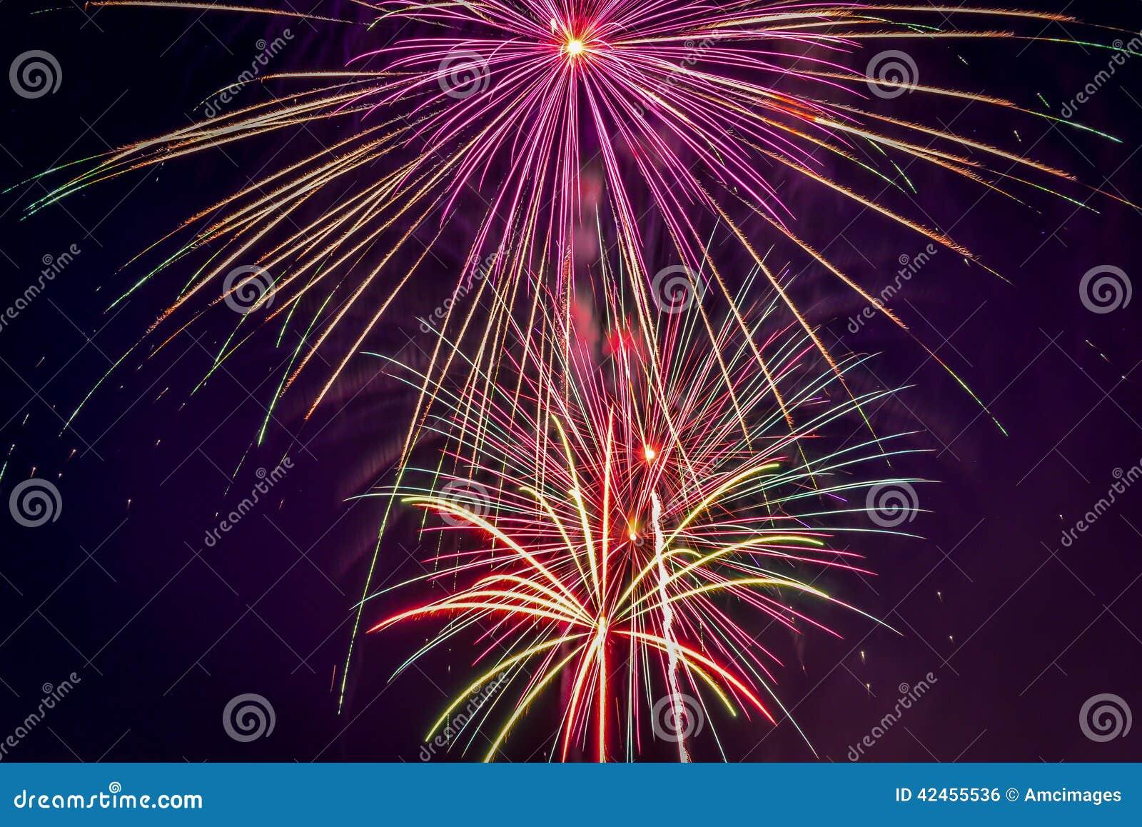 Feiertag der Feuerwerksanzeige am 4. Juli