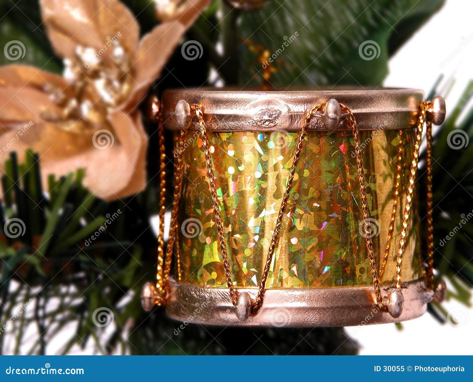 Feiertag u. Saison: Glänzende Goldfolien-Trommel