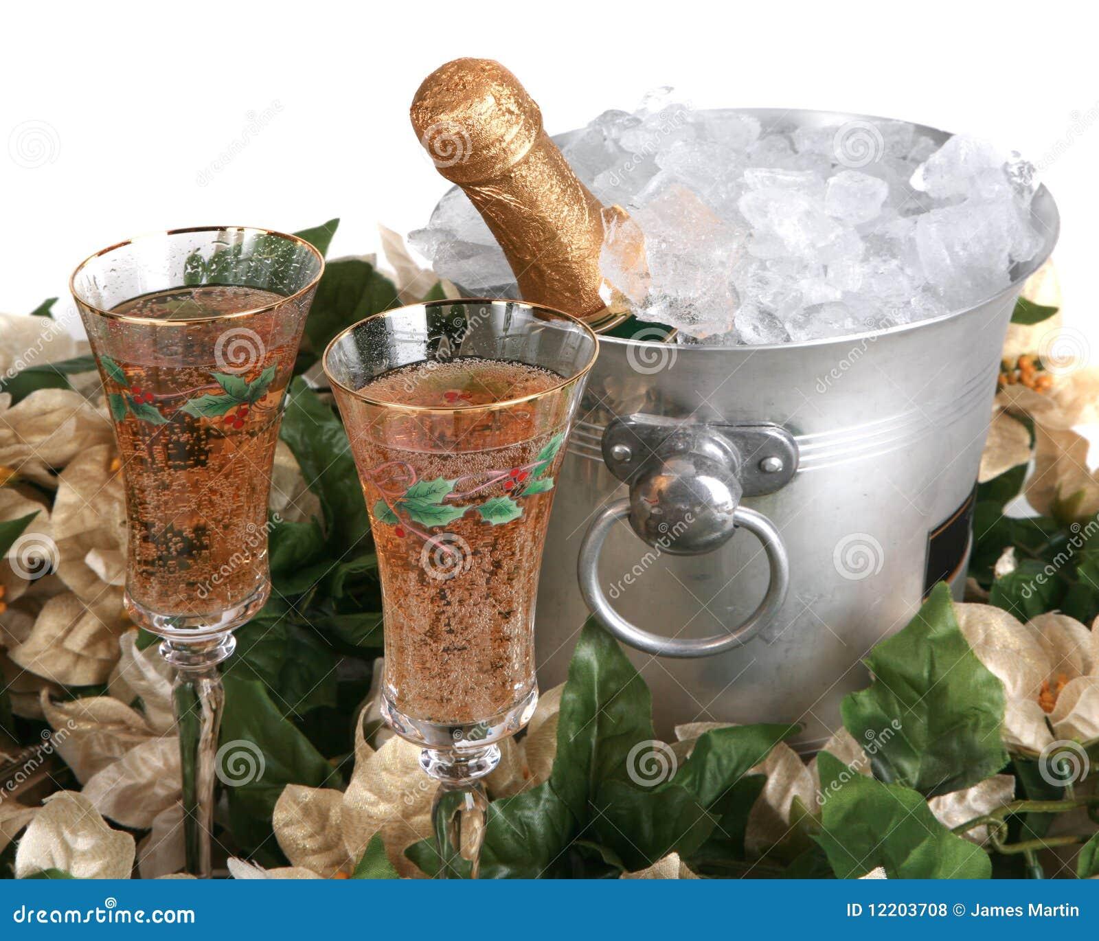 Feiertags-Champagne-Feier