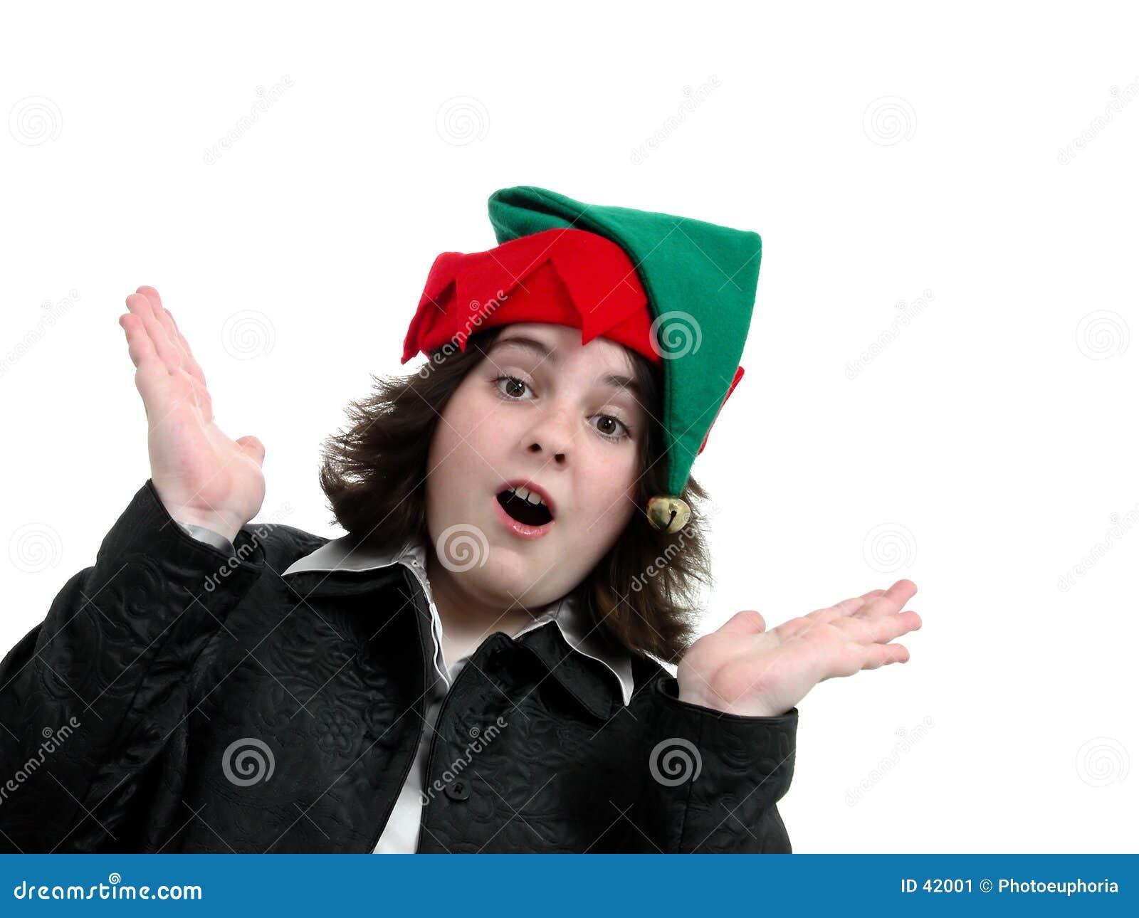 Feiertags-jugendlich Mädchen überraschte