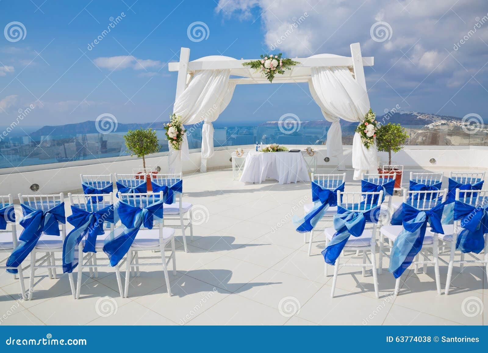 Feiertagsdekorationen für die Hochzeit