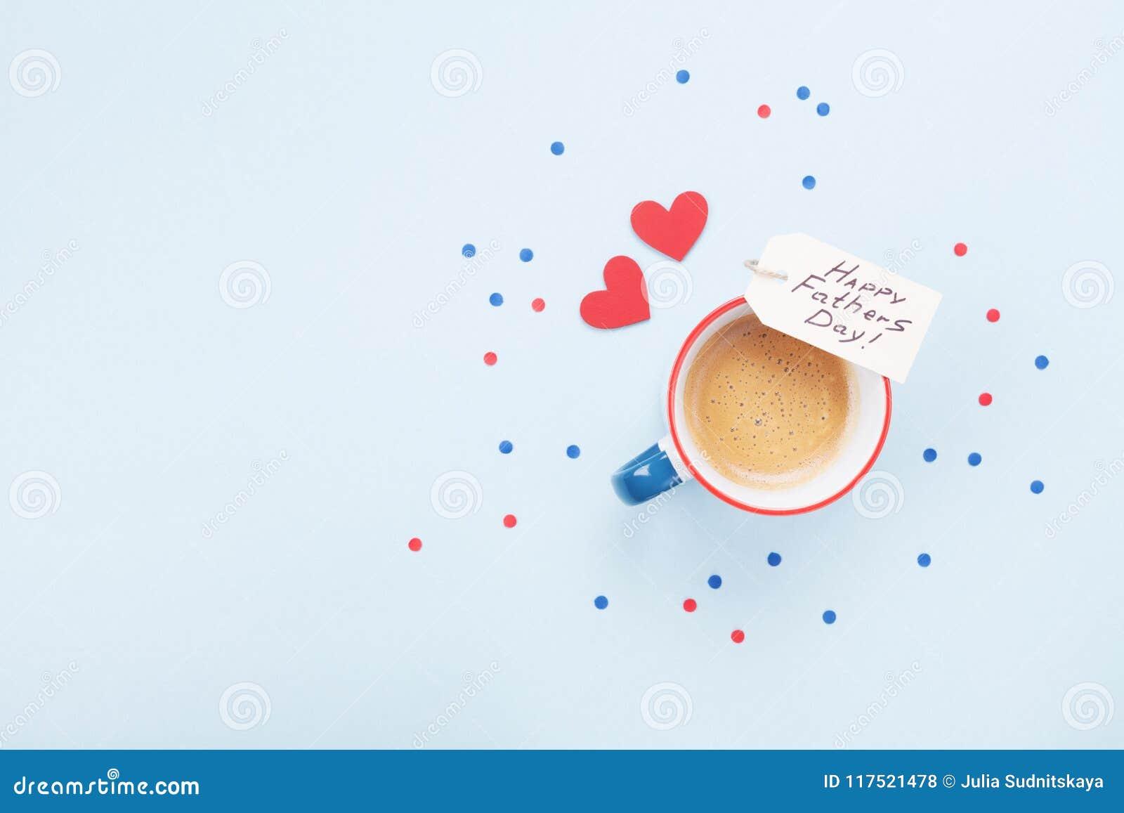 Feiertagsfrühstück Am Glücklichen Vatertag Mit Tasse Kaffee Und ...