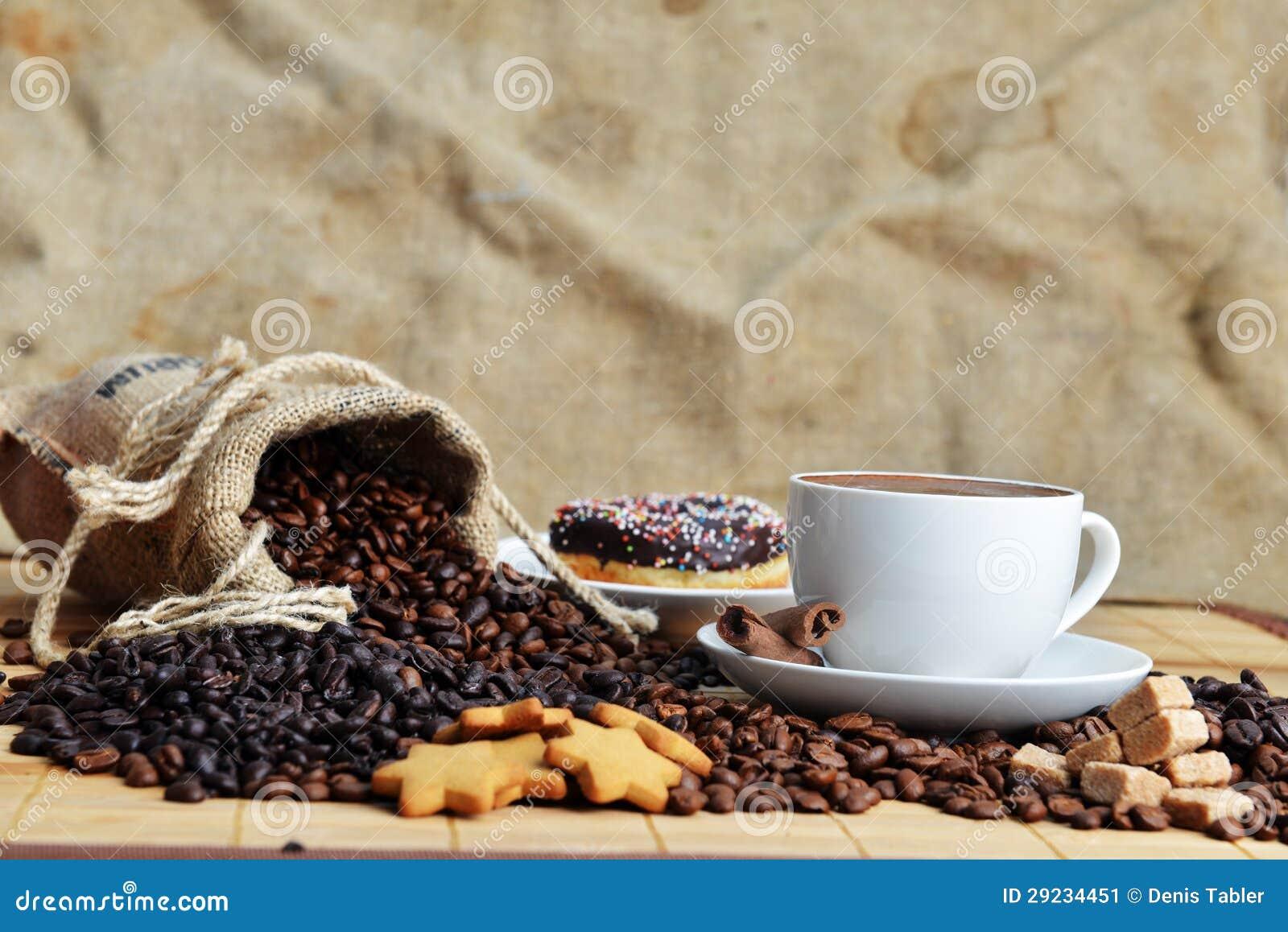 Download Feijões de café imagem de stock. Imagem de copo, sabor - 29234451