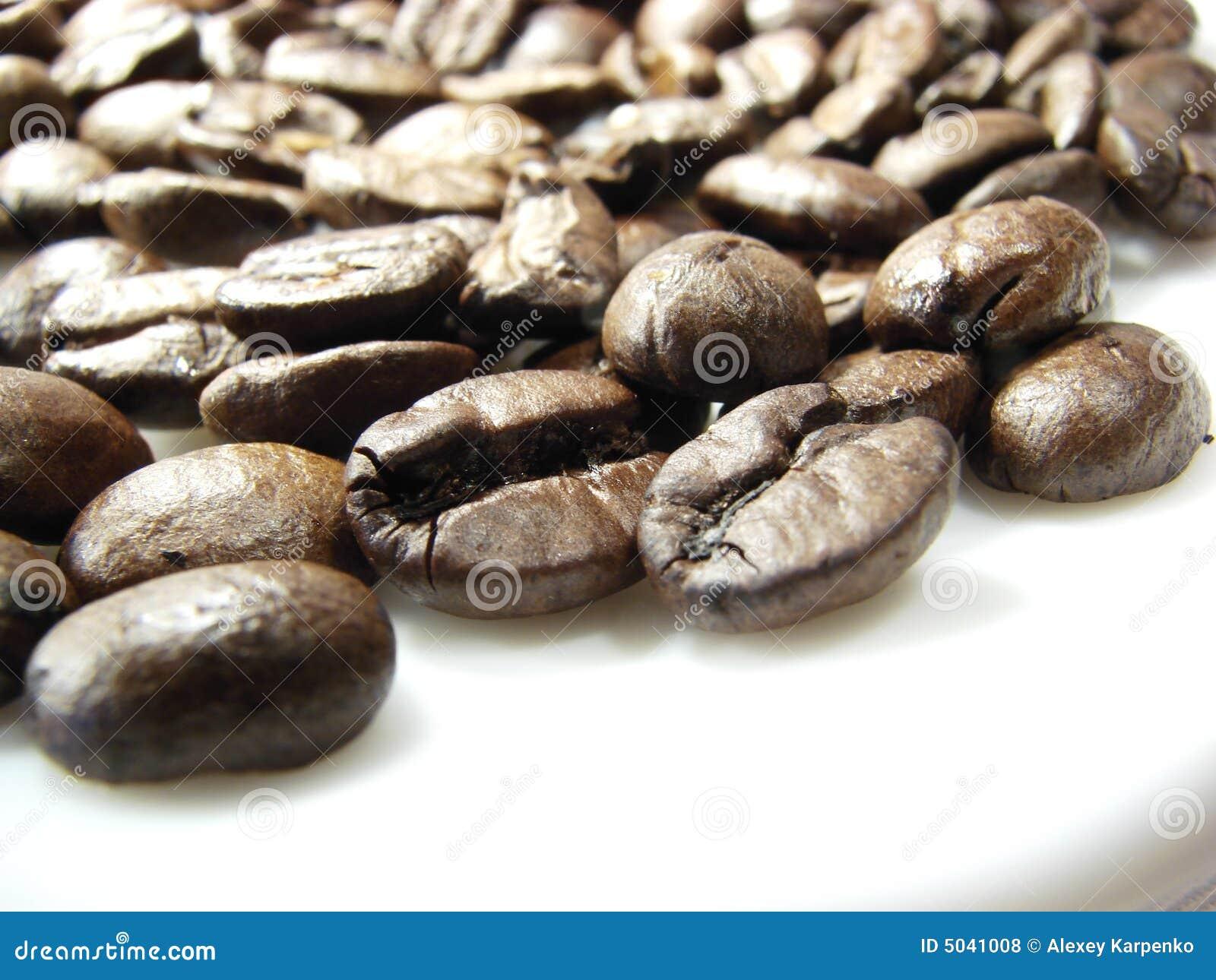 Feijões de café marrons naturais 2